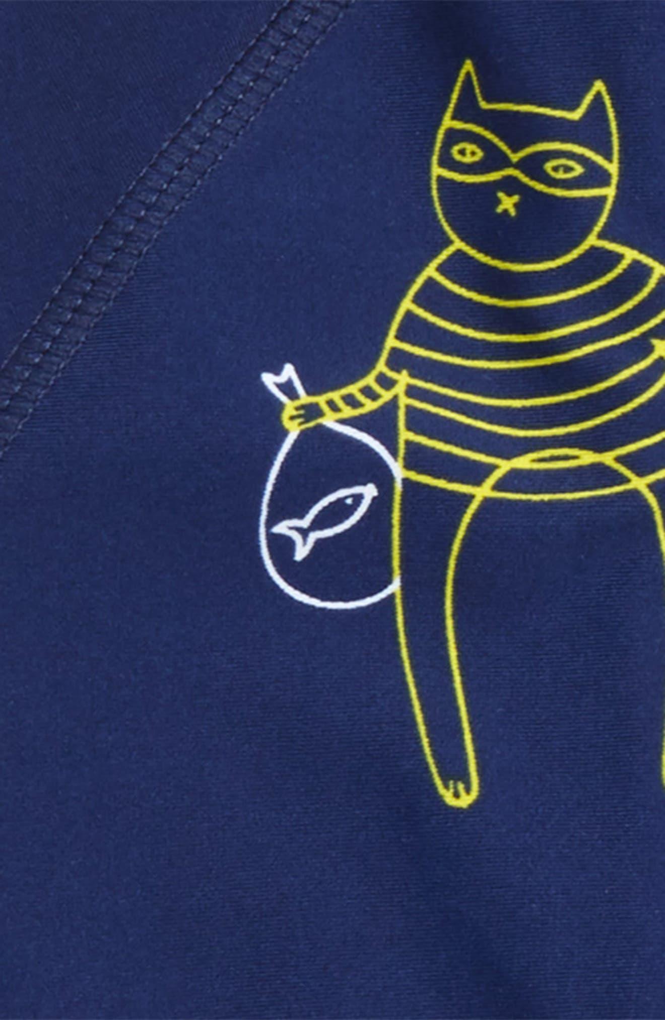 Cat Bandit One-Piece Rashgaurd Swimsuit,                             Alternate thumbnail 2, color,                             415