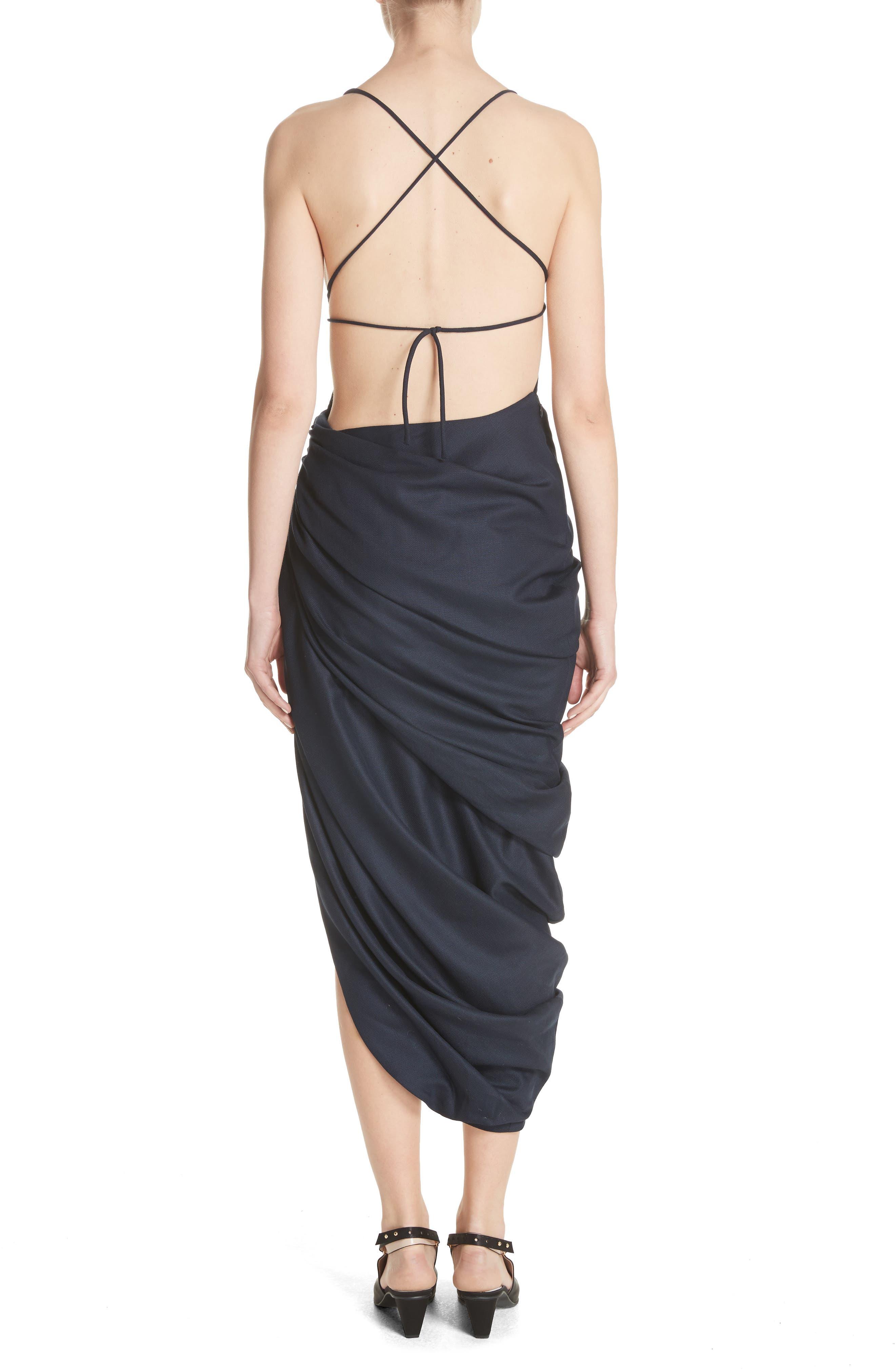 La Robe Saudade Longue Dress,                             Alternate thumbnail 2, color,