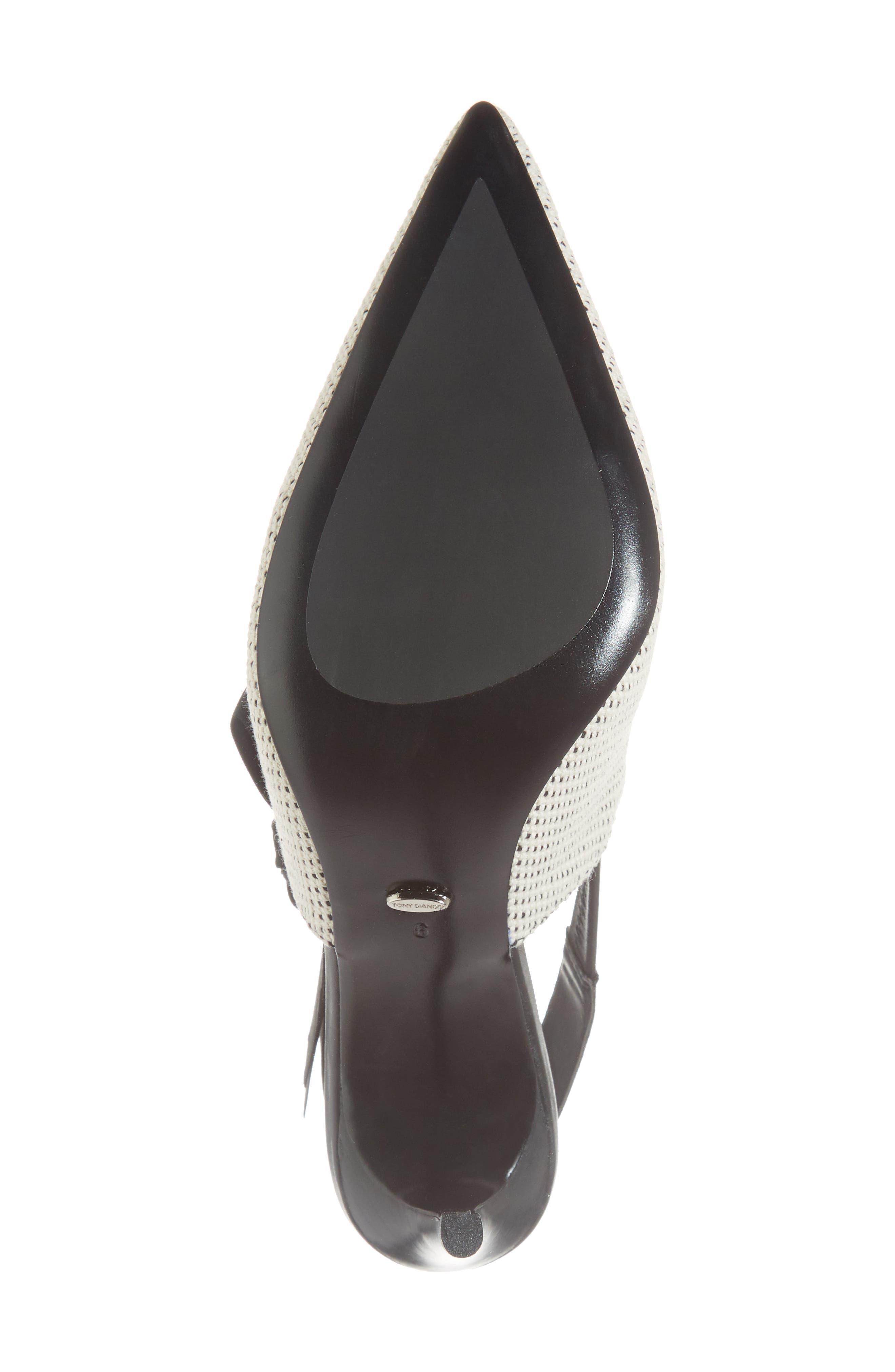Evita Sandal,                             Alternate thumbnail 6, color,                             WHITE/ BLACK FABRIC