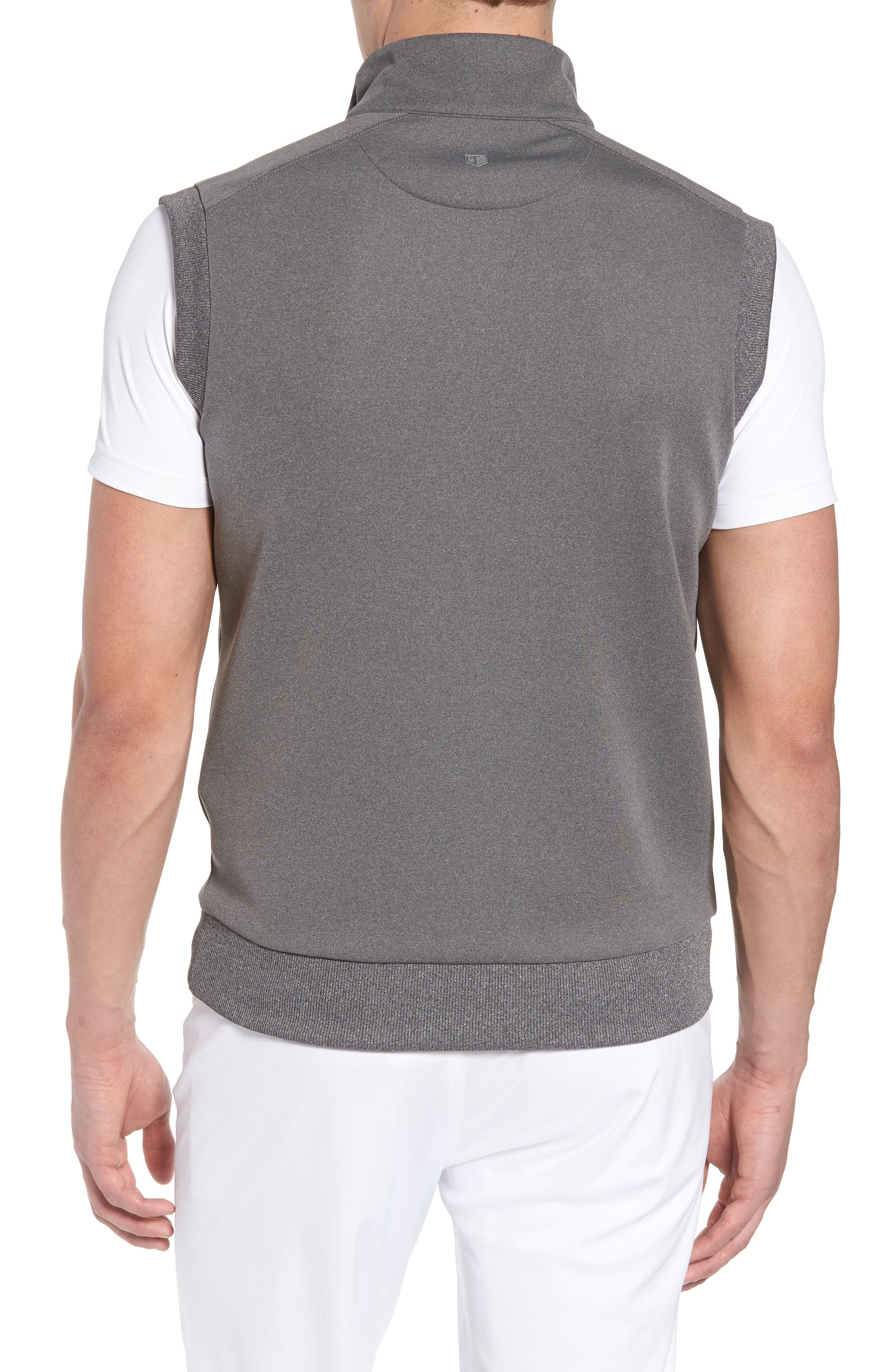 Quarter Zip Tech Vest,                             Alternate thumbnail 2, color,                             GRAPHITE HEATHER