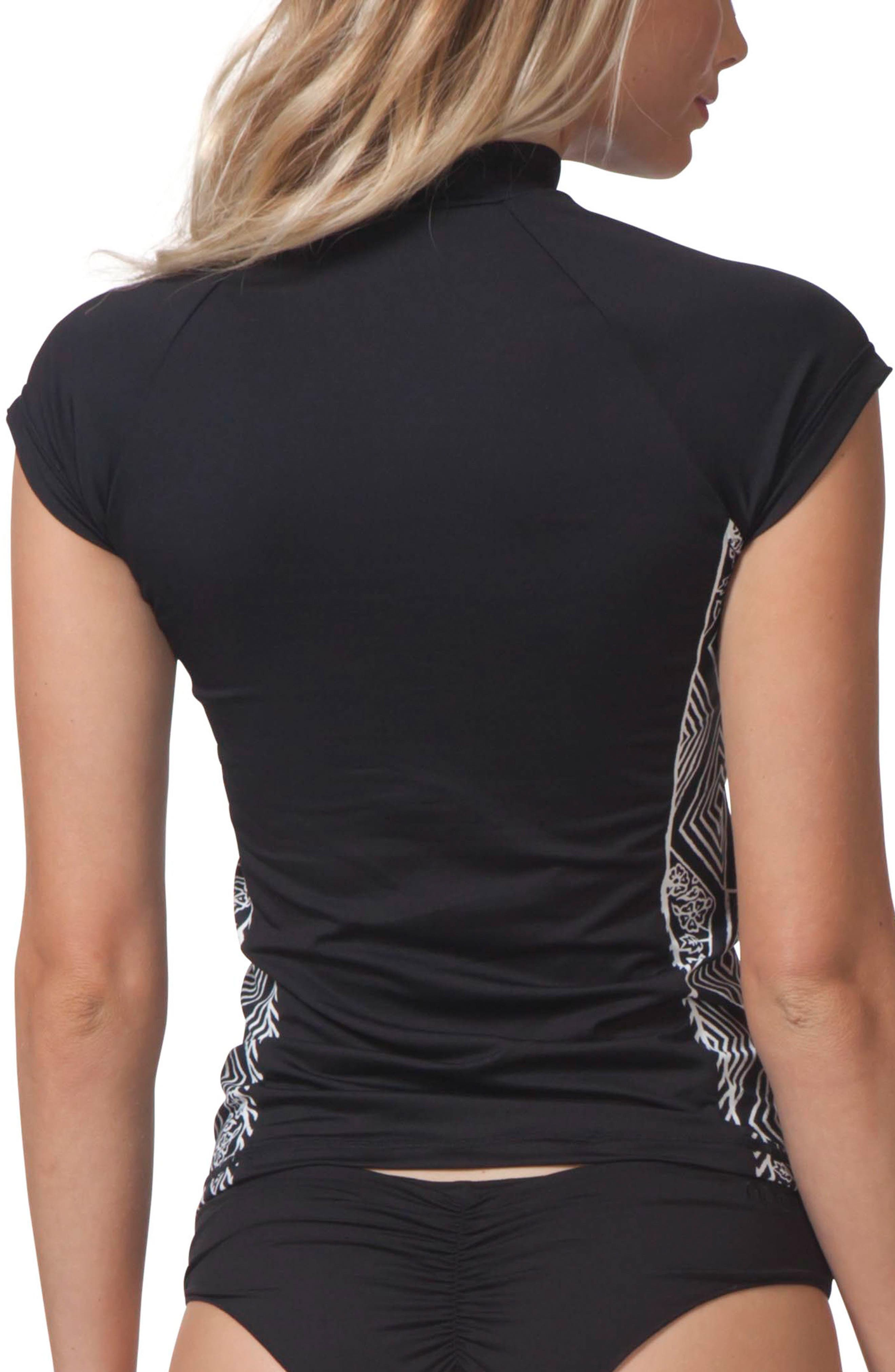 Black Sands Rashguard Top,                             Alternate thumbnail 2, color,                             001