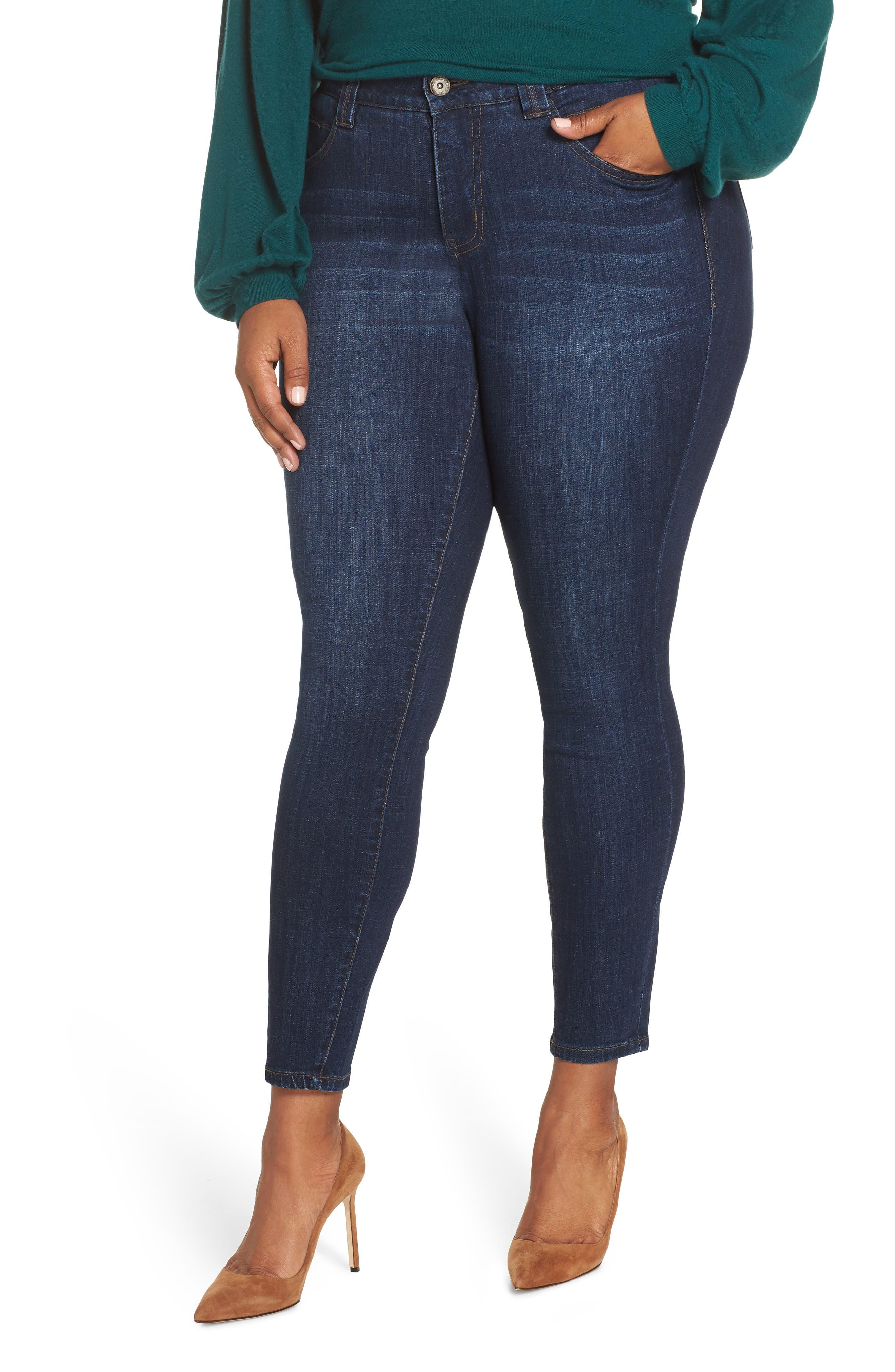 Cecilia Stretch Skinny Jeans in Med Indigo