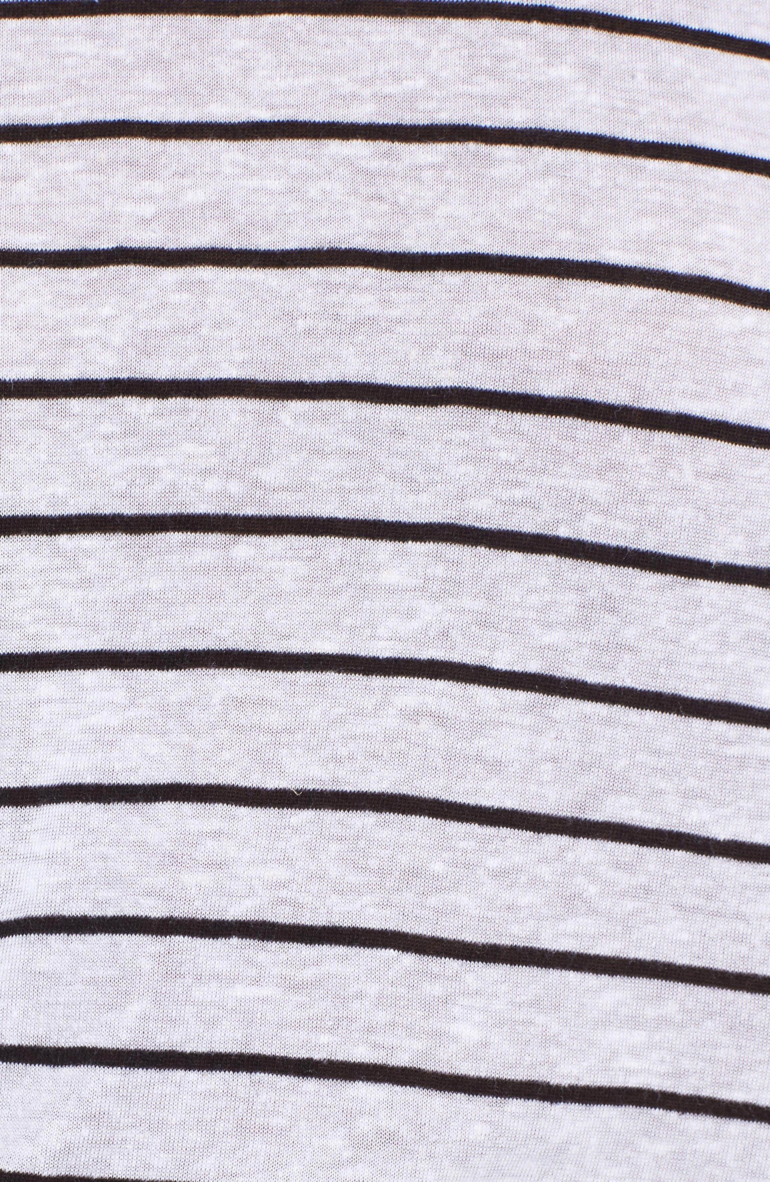 BP.,                             Side Tie Stripe Tee,                             Alternate thumbnail 5, color,                             100