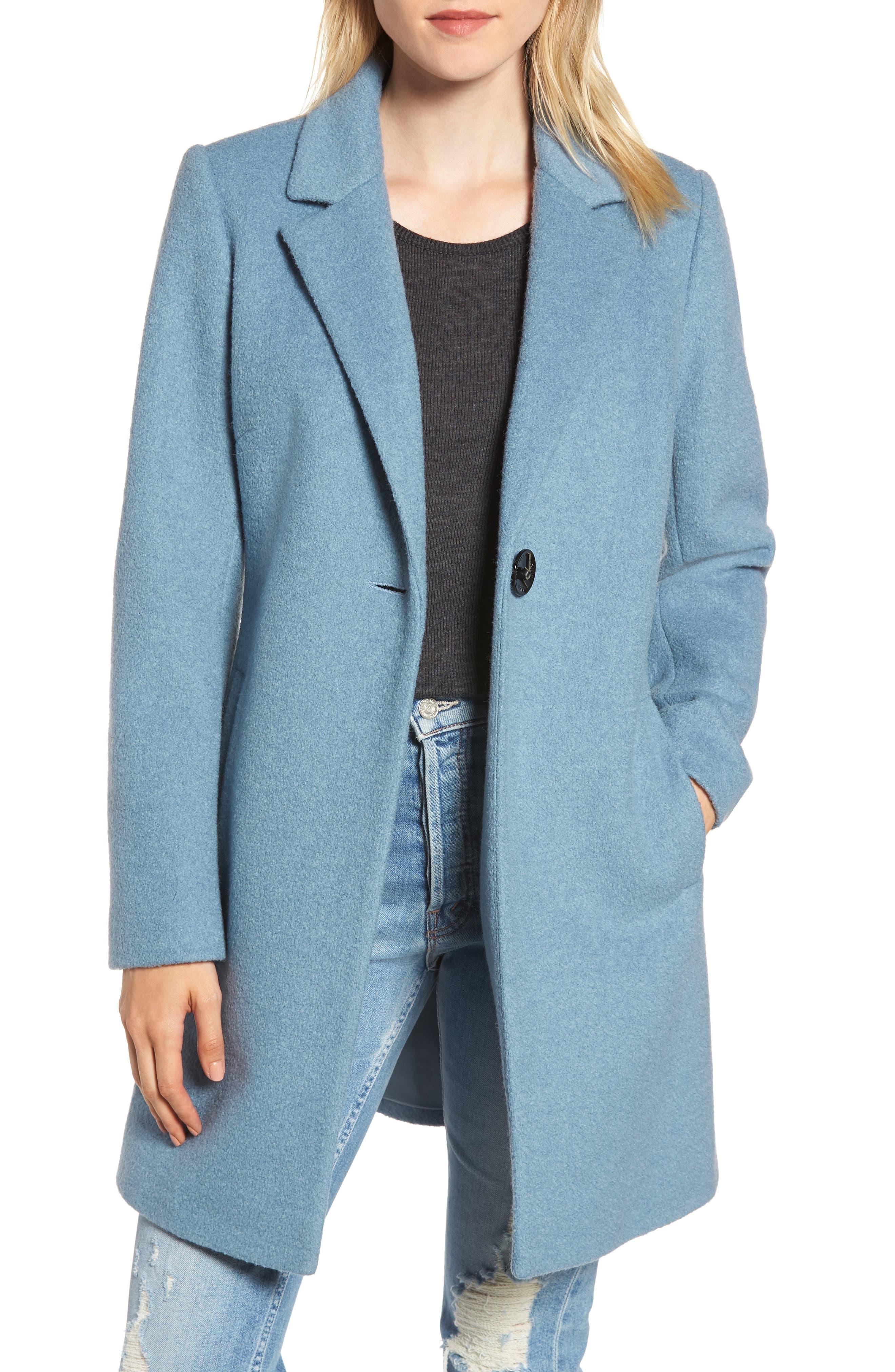 Blazer Jacket,                         Main,                         color, LIGHT BLUE