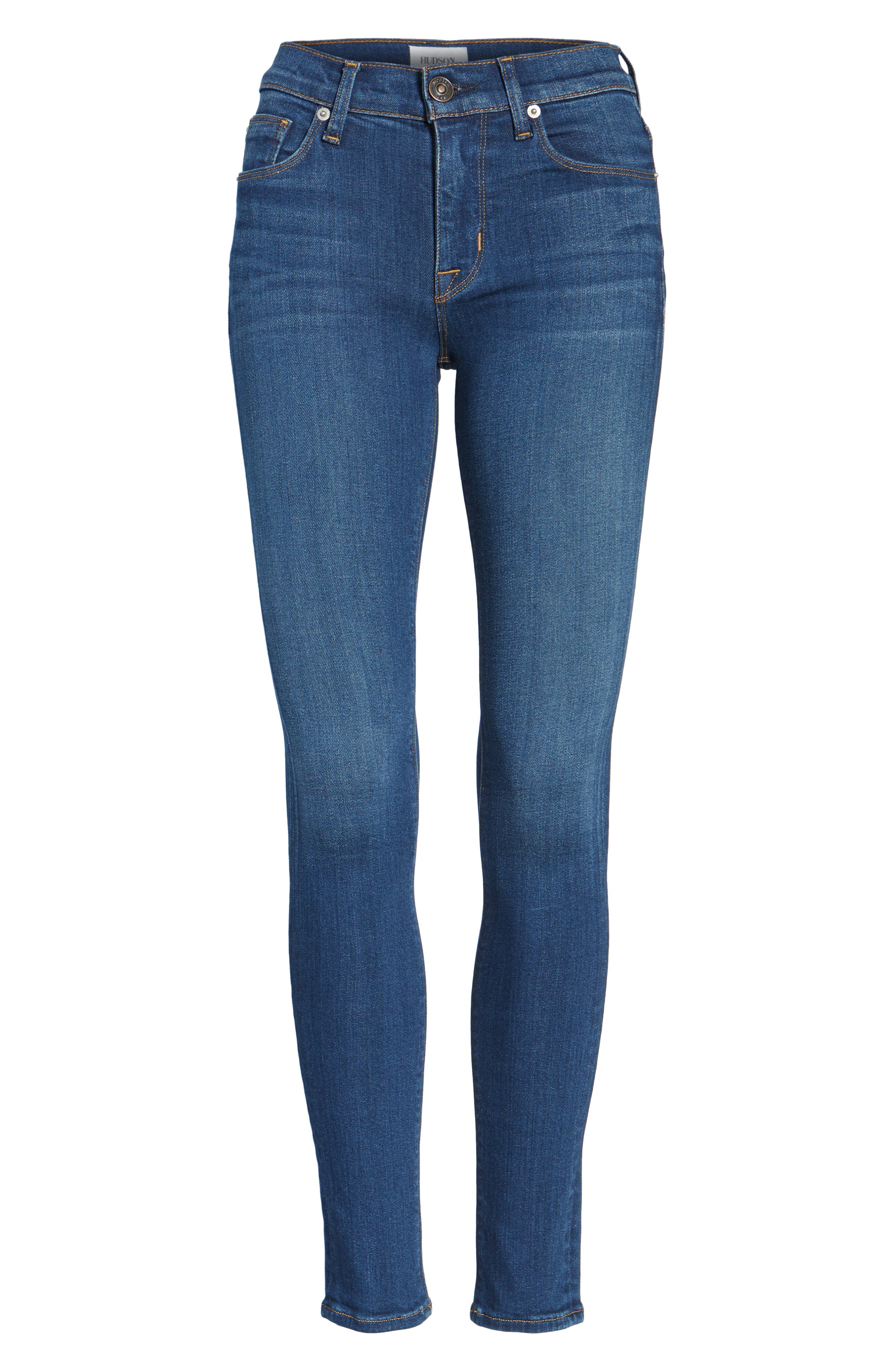 Hudson Nico Mid Rise Super Skinny Jeans,                             Alternate thumbnail 7, color,                             420
