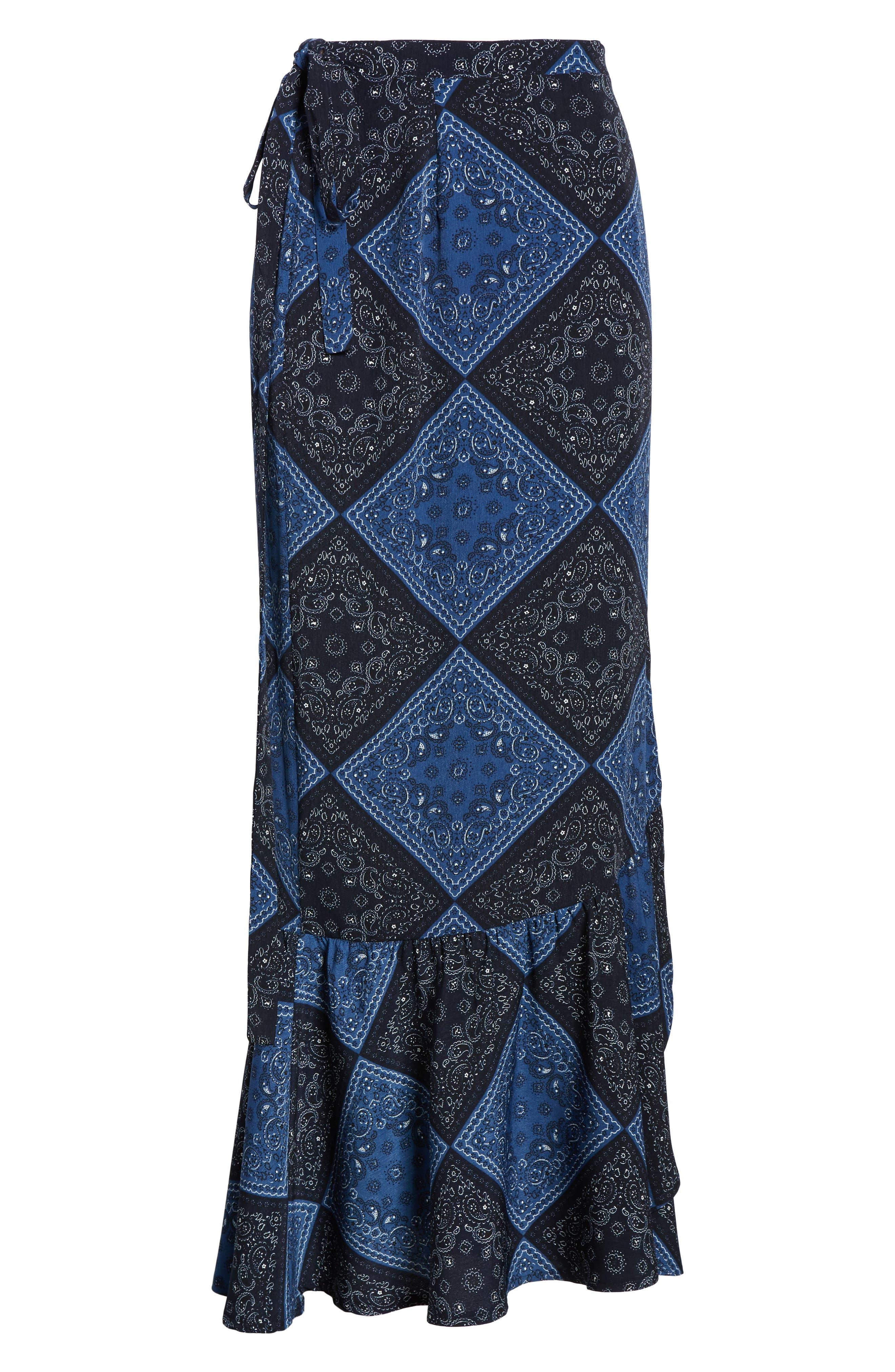 Elsa Bandana Print Skirt,                             Alternate thumbnail 6, color,                             405