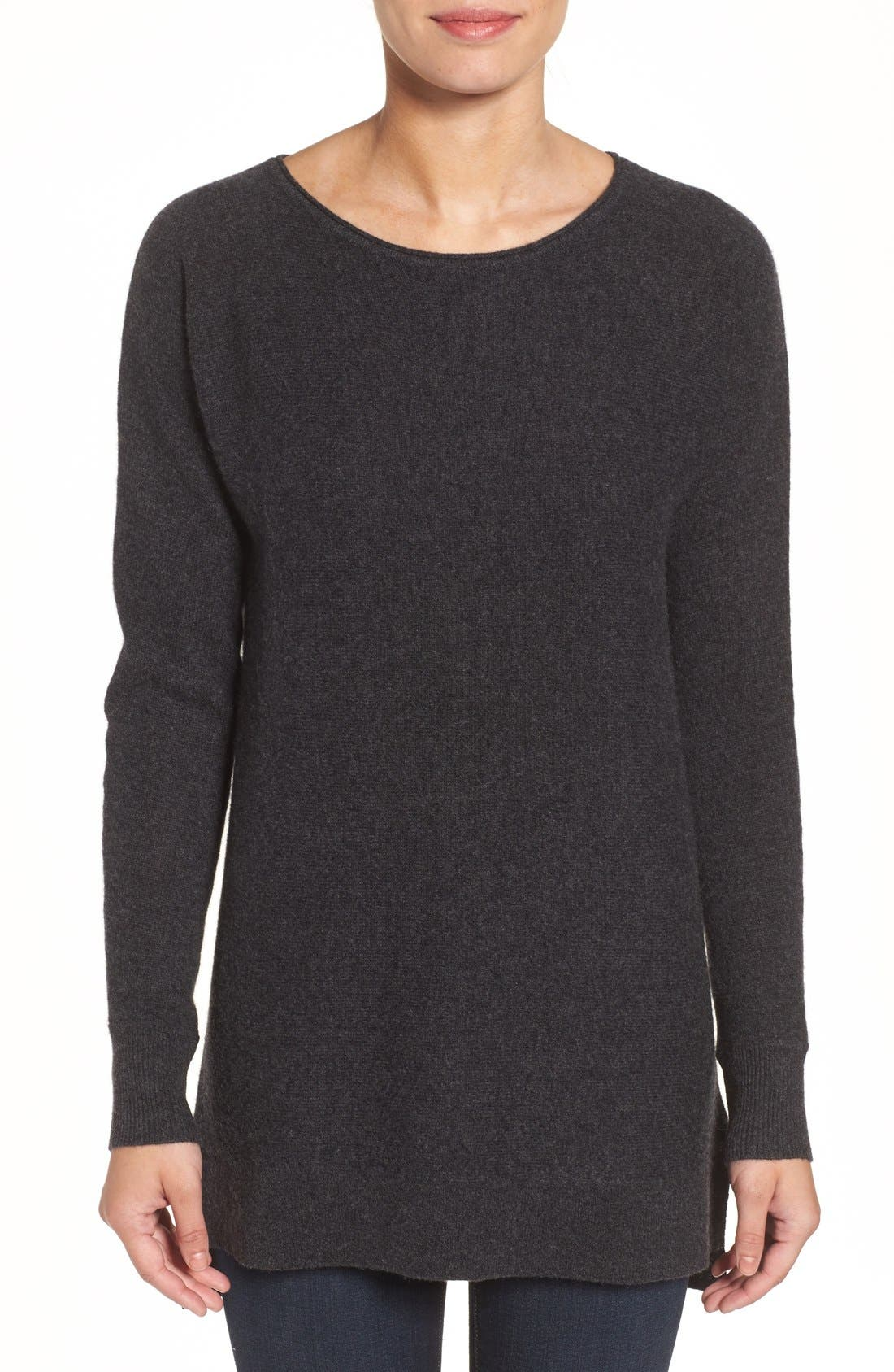 High/Low Wool & Cashmere Tunic Sweater,                             Main thumbnail 2, color,