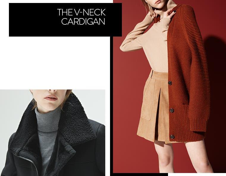 The Vince V-neck cardigan.