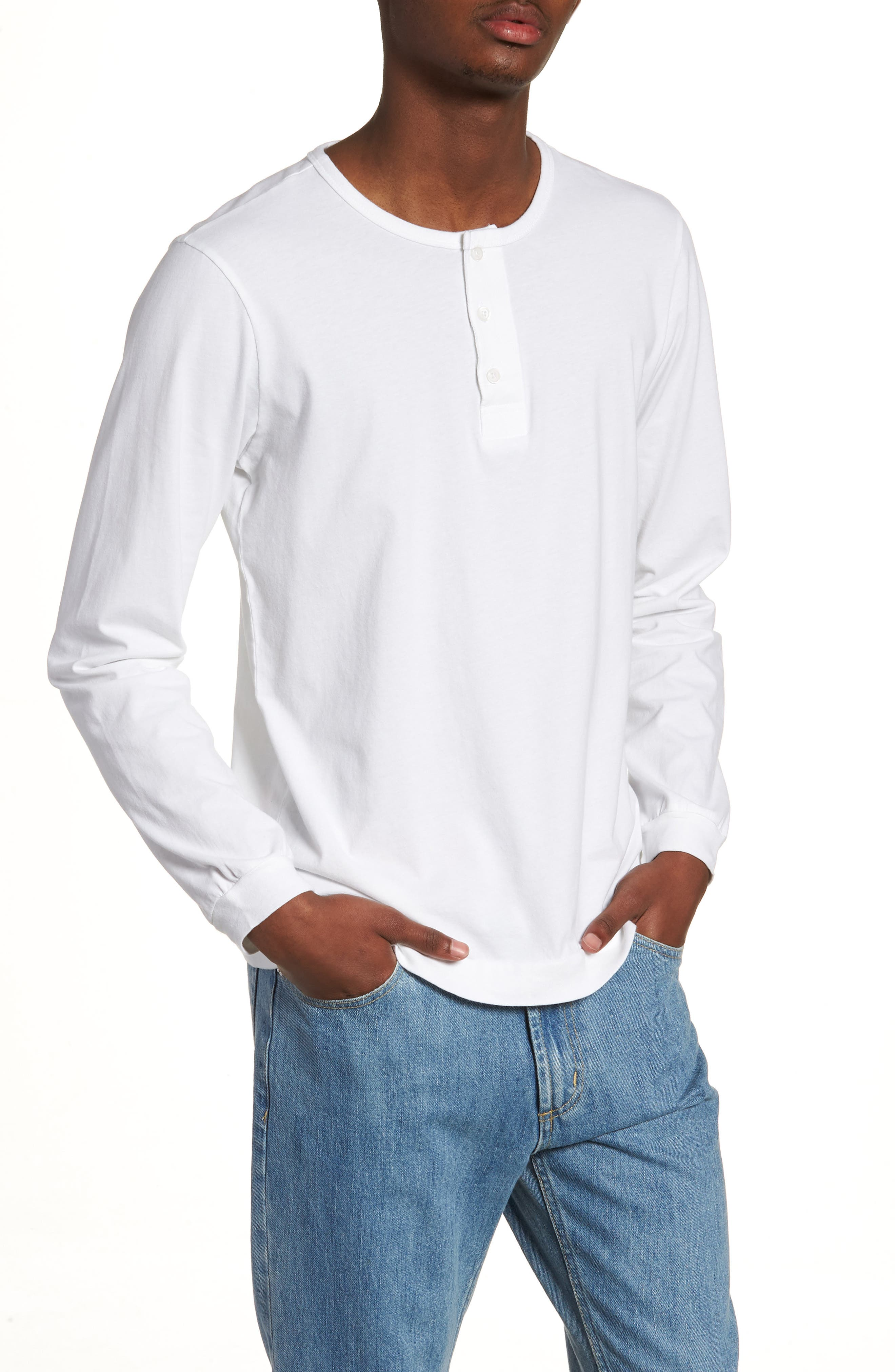 SATURDAYS NYC Mitch Pima Cotton Henley, Main, color, 110
