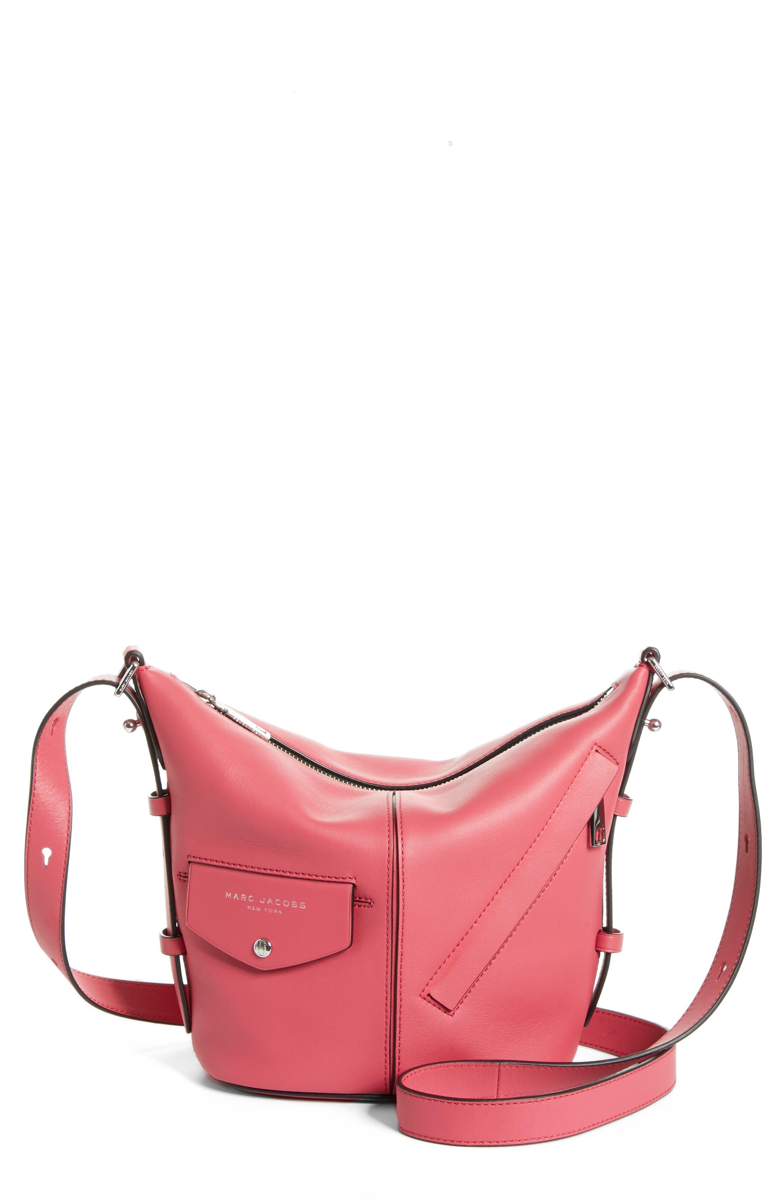 The Mini Sling Convertible Leather Hobo,                             Main thumbnail 7, color,