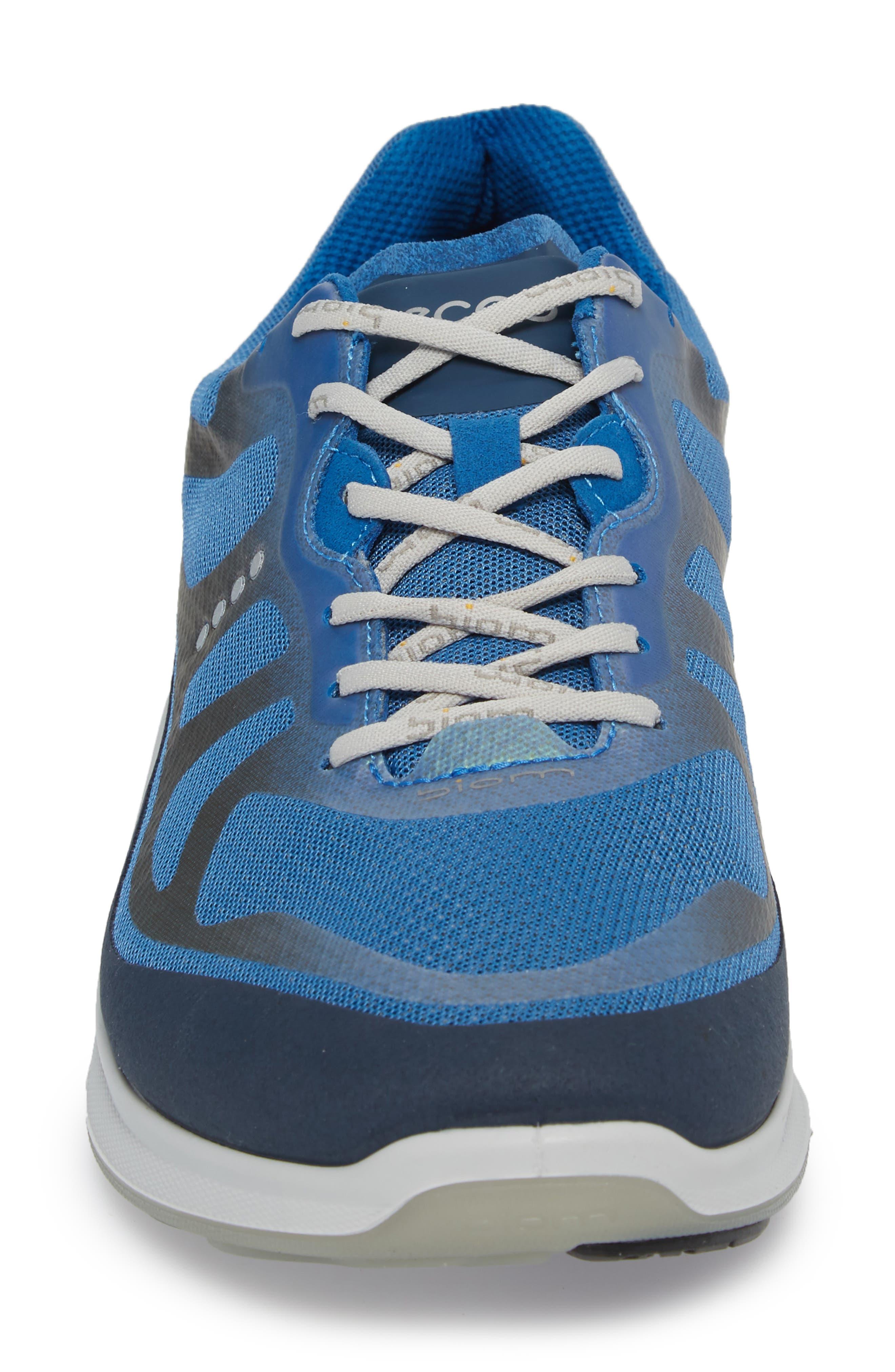 BIOM Fjuel Tie Sneaker,                             Alternate thumbnail 4, color,                             MARINE/ BLUE TEXTILE