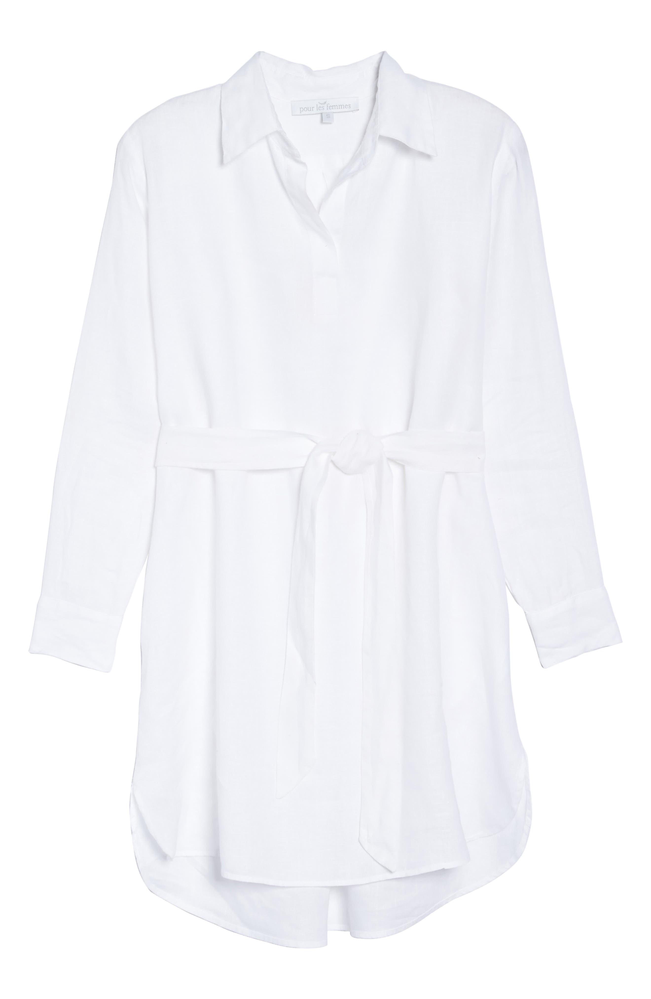 Linen Shirtdress,                             Alternate thumbnail 12, color,