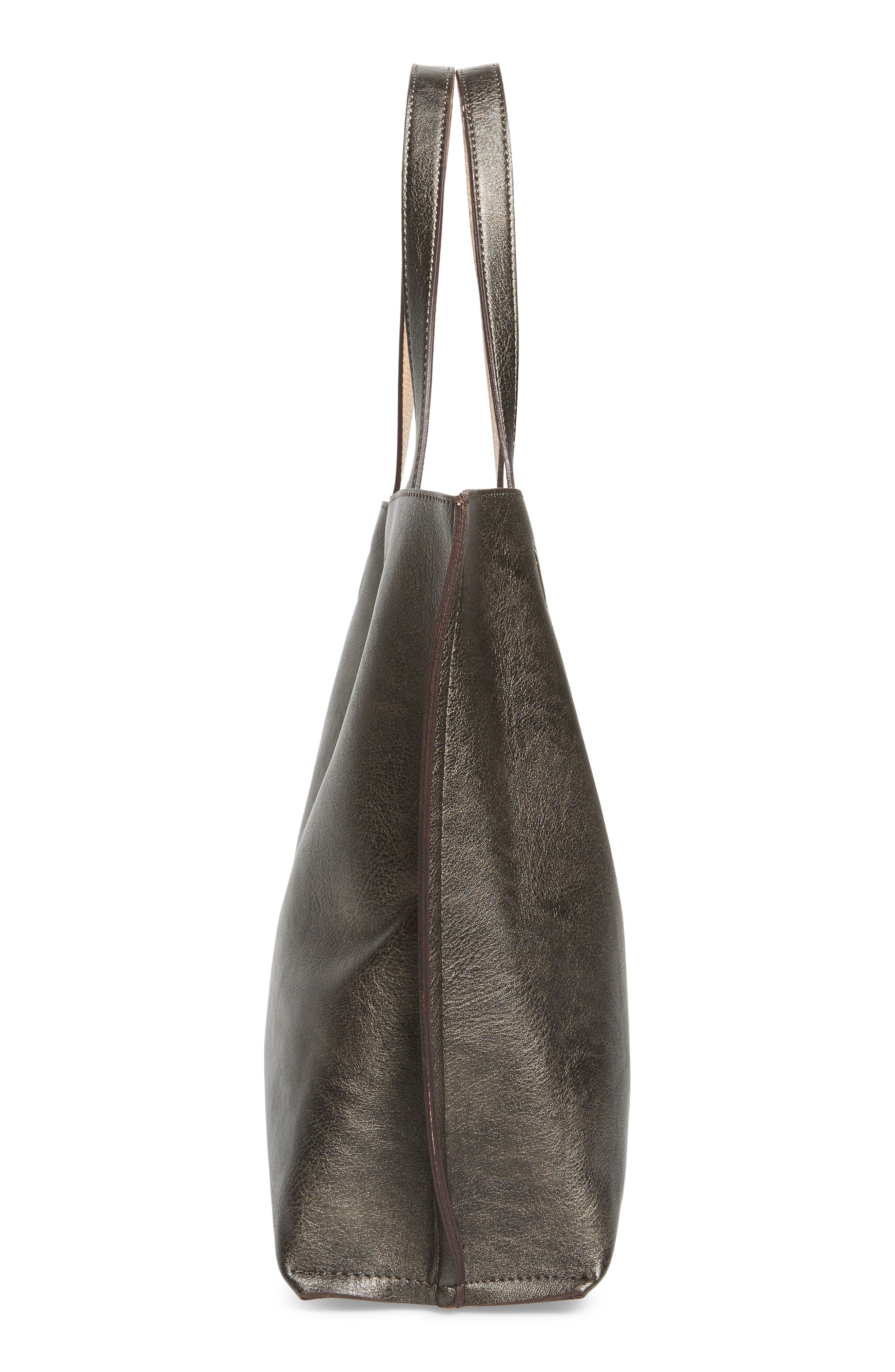 Reversible Faux Leather Tote,                             Alternate thumbnail 37, color,