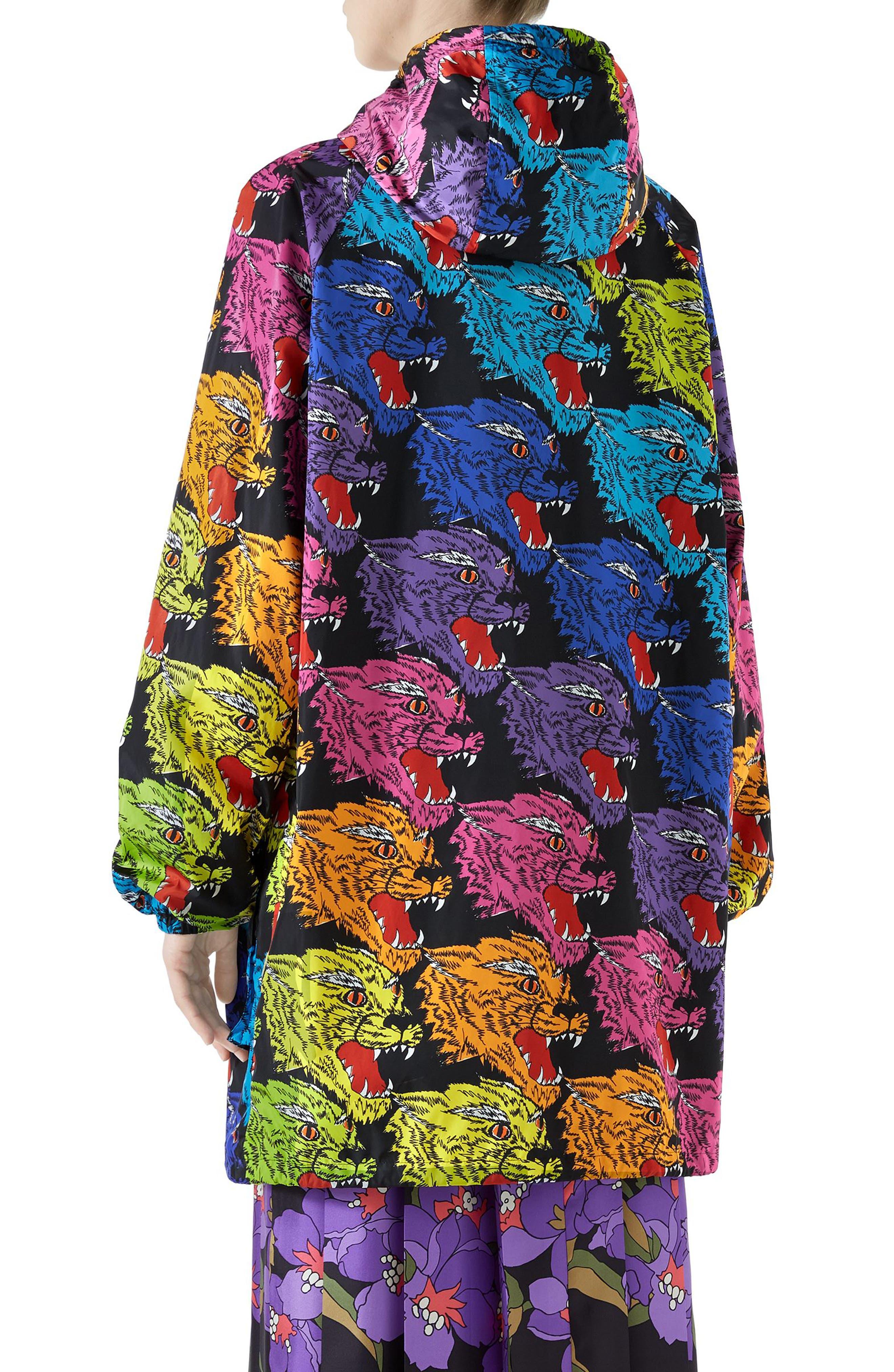 Rainbow Panther Hooded Jacket,                             Alternate thumbnail 2, color,                             RAINBOW PRINT