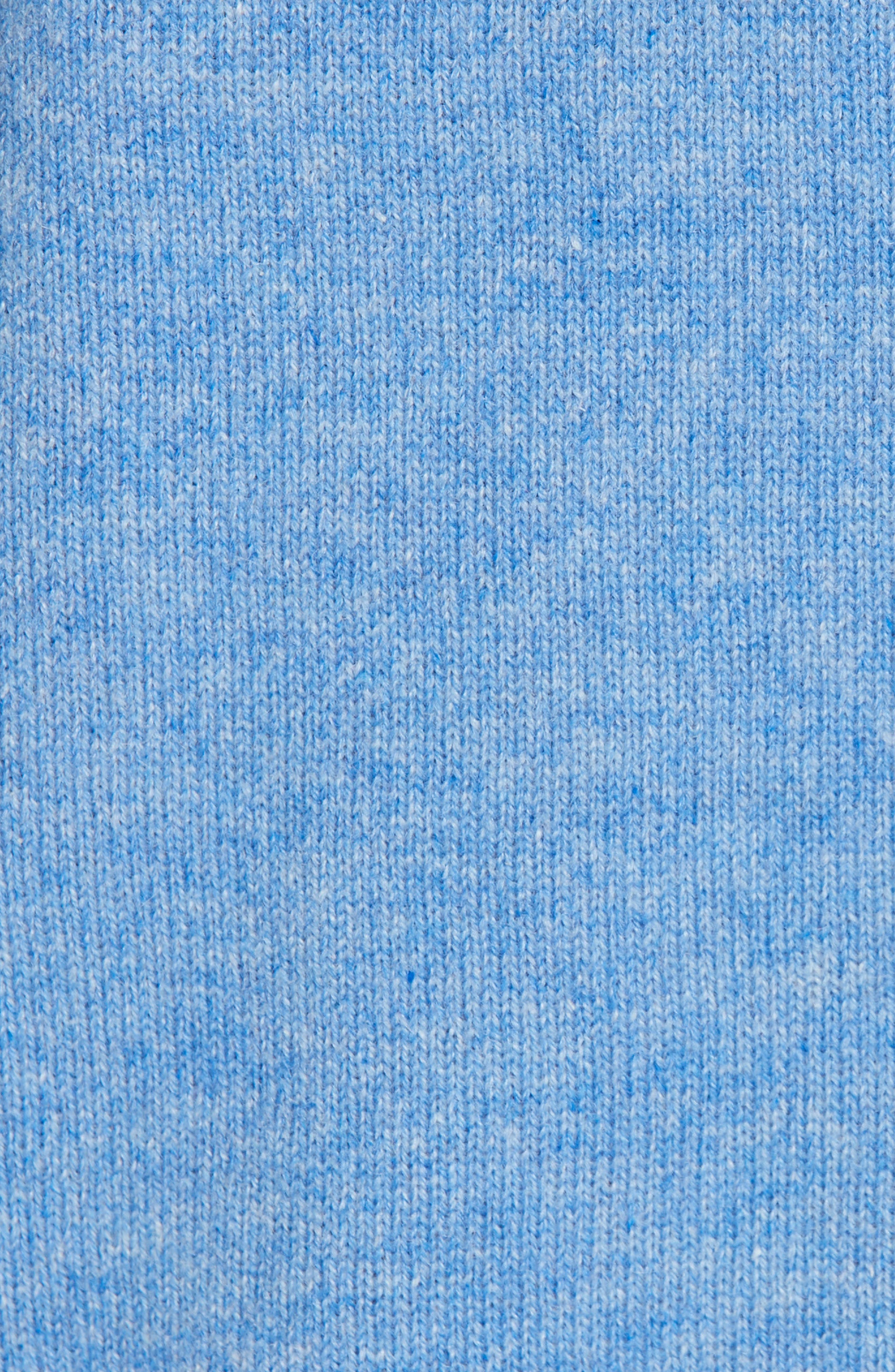 V-Neck High/Low Cashmere Sweater,                             Alternate thumbnail 5, color,                             BLUE PROVENCE HEATHER