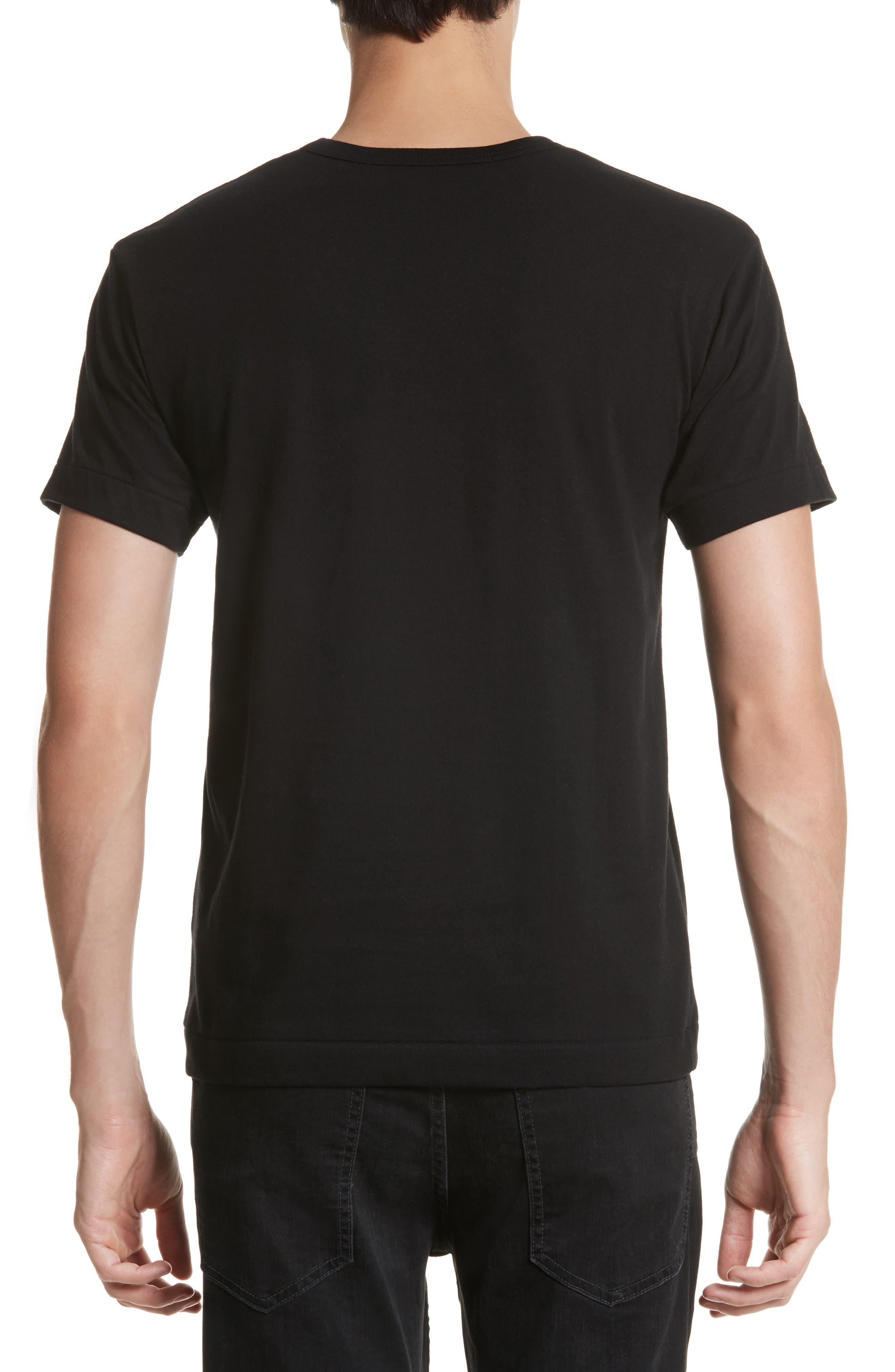 Inverted Heart Logo T-Shirt,                             Alternate thumbnail 2, color,                             BLACK