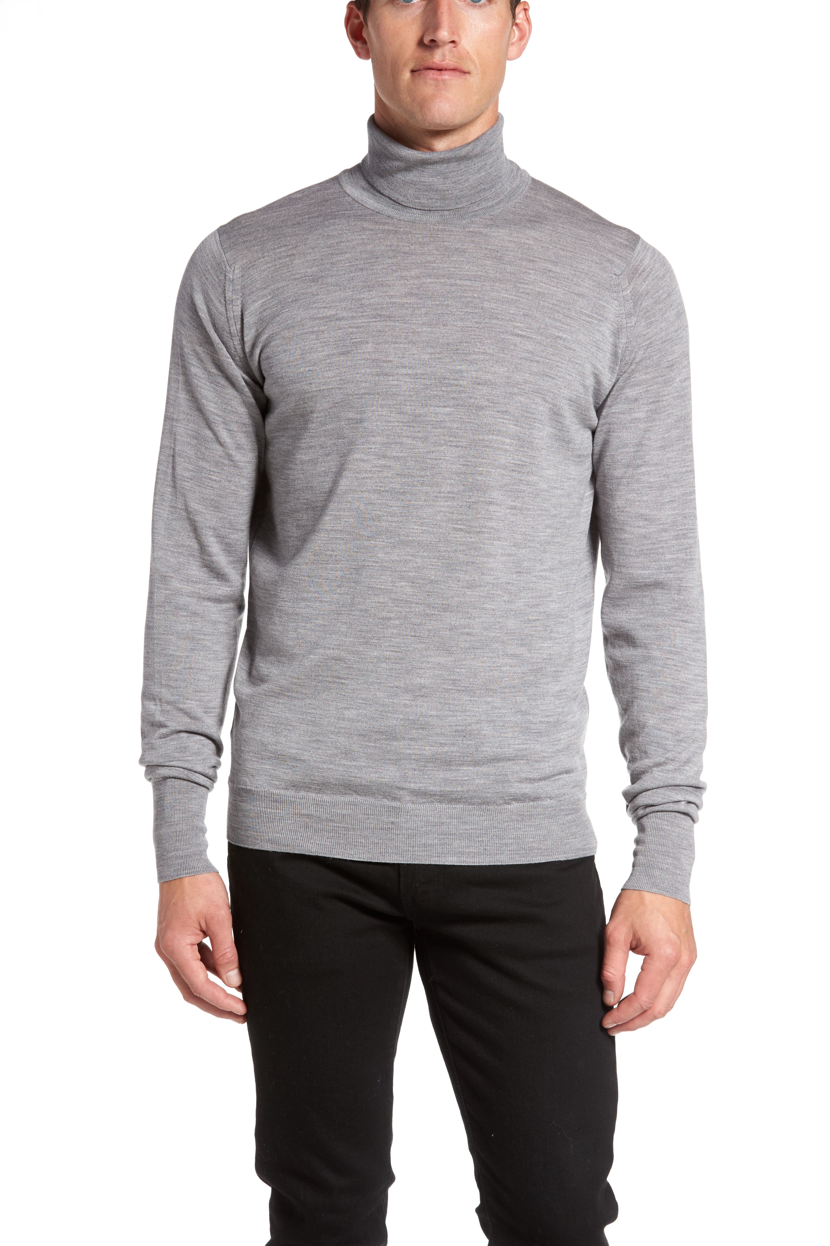 'Richards' Easy Fit Turtleneck Wool Sweater,                             Alternate thumbnail 46, color,