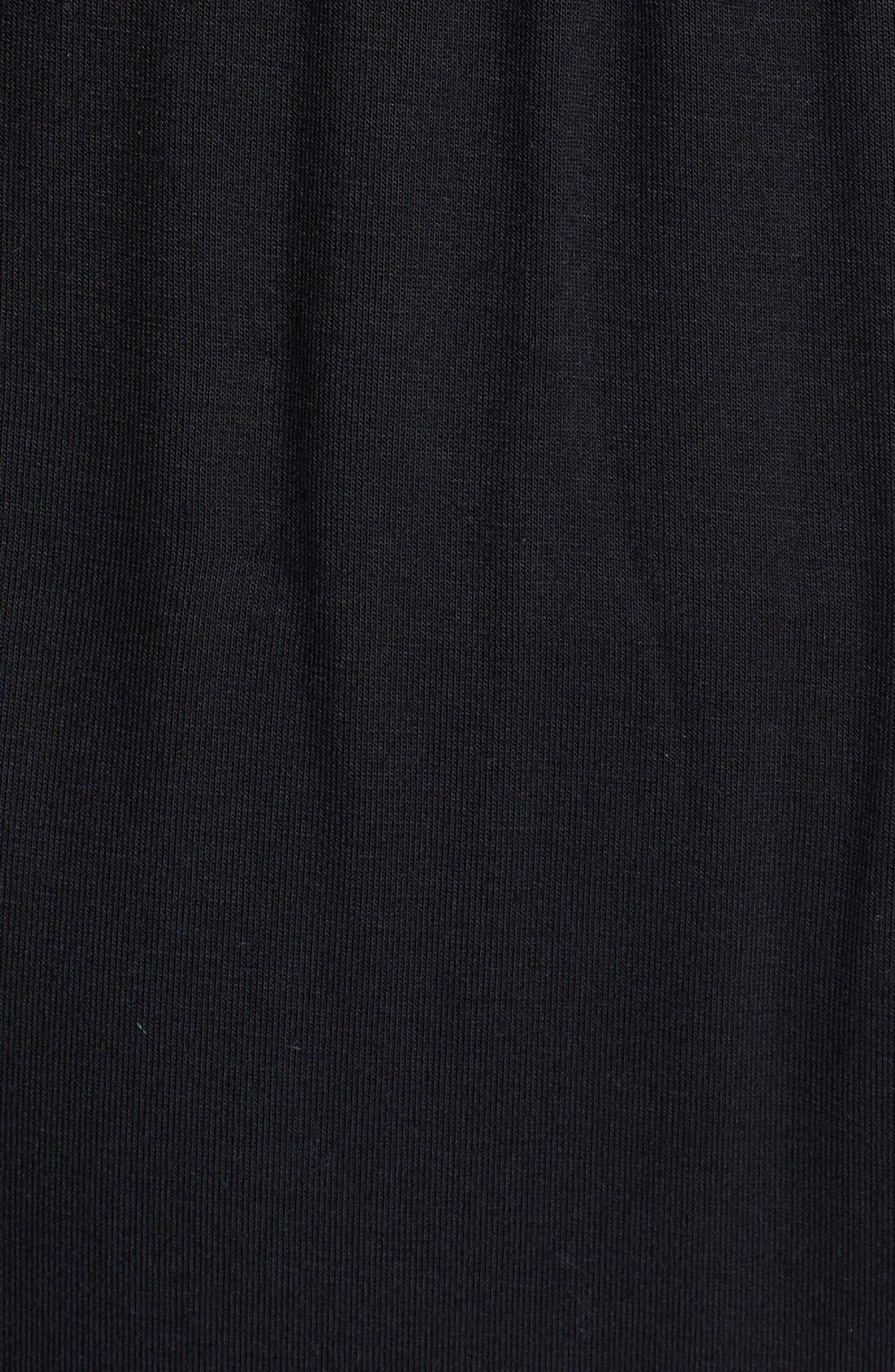 Drawstring Jersey Maxi Dress,                             Alternate thumbnail 3, color,                             001