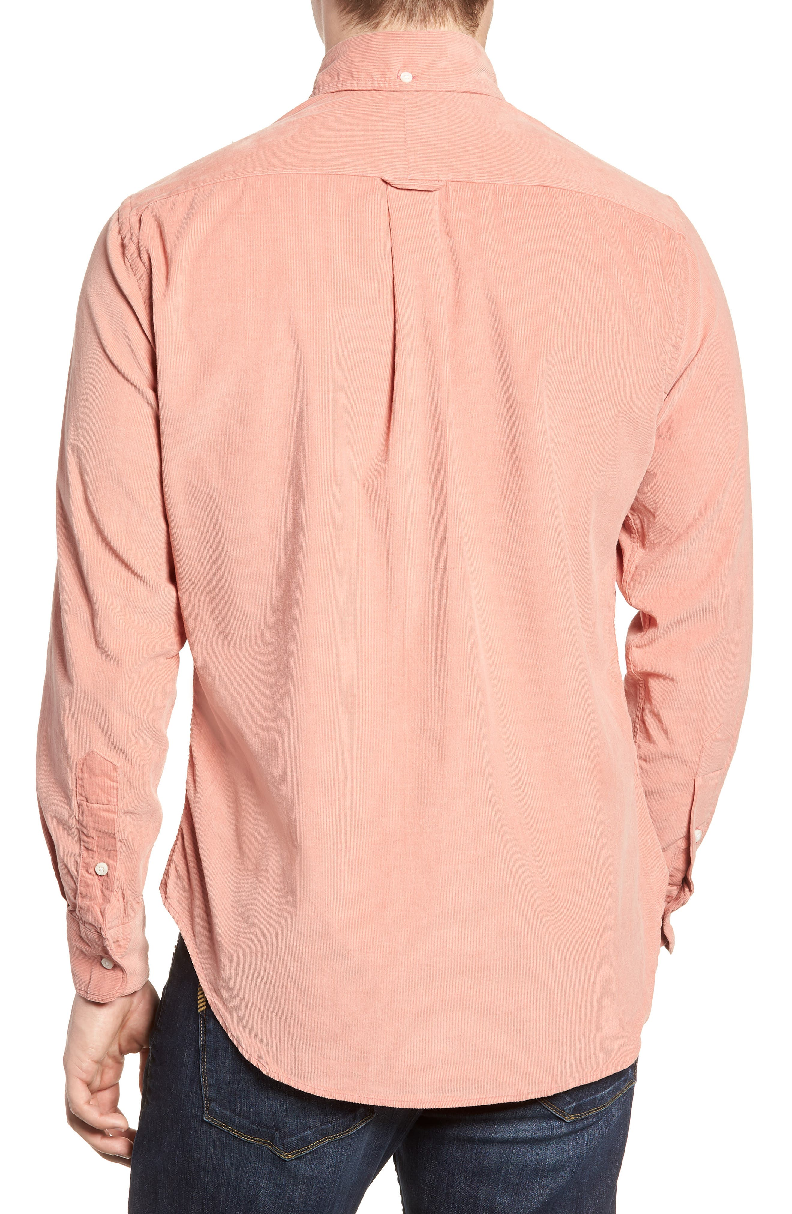 Regular Fit Corduroy Shirt,                             Alternate thumbnail 3, color,                             PINK