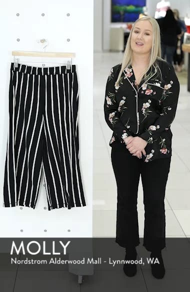 Stripe Organic Cotton Capri Pants, sales video thumbnail