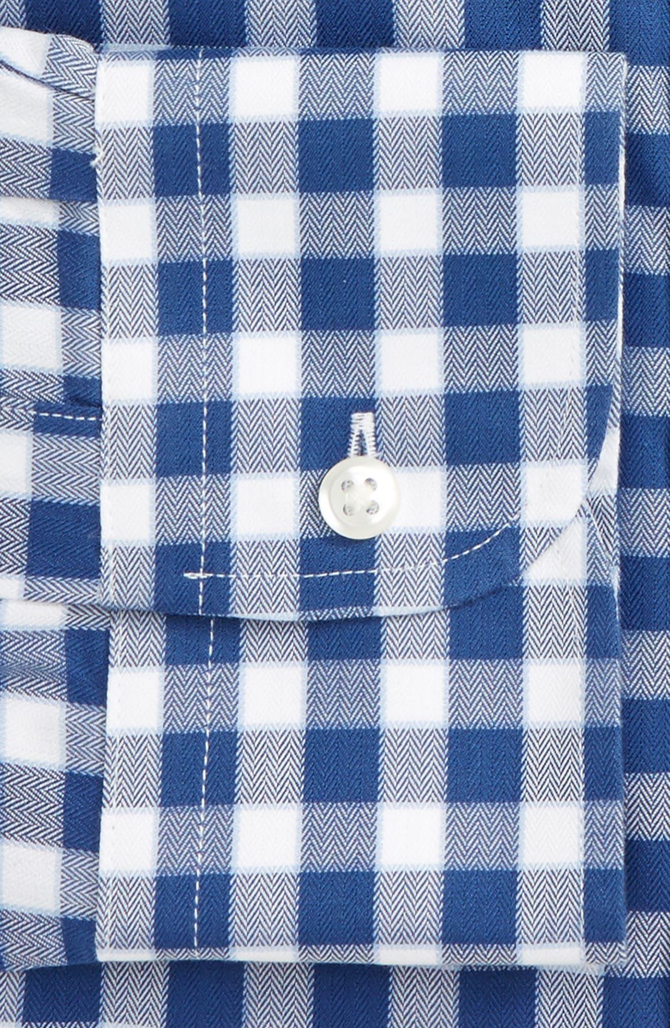 Smartcare<sup>™</sup> Classic Fit Check Dress Shirt,                             Alternate thumbnail 5, color,