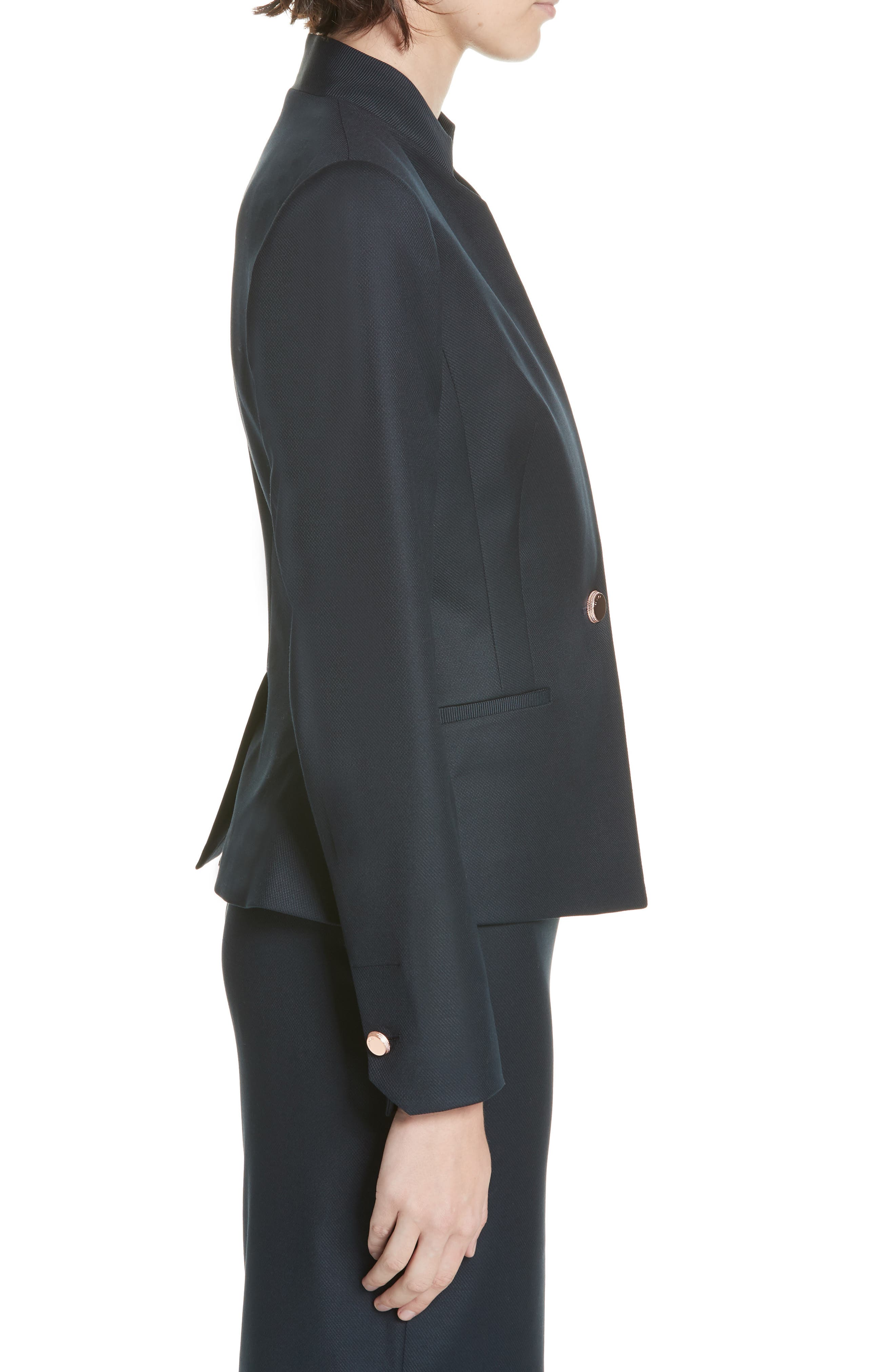 Ted Working Title Rivaa Tailored Jacket,                             Alternate thumbnail 3, color,                             DARK BLUE
