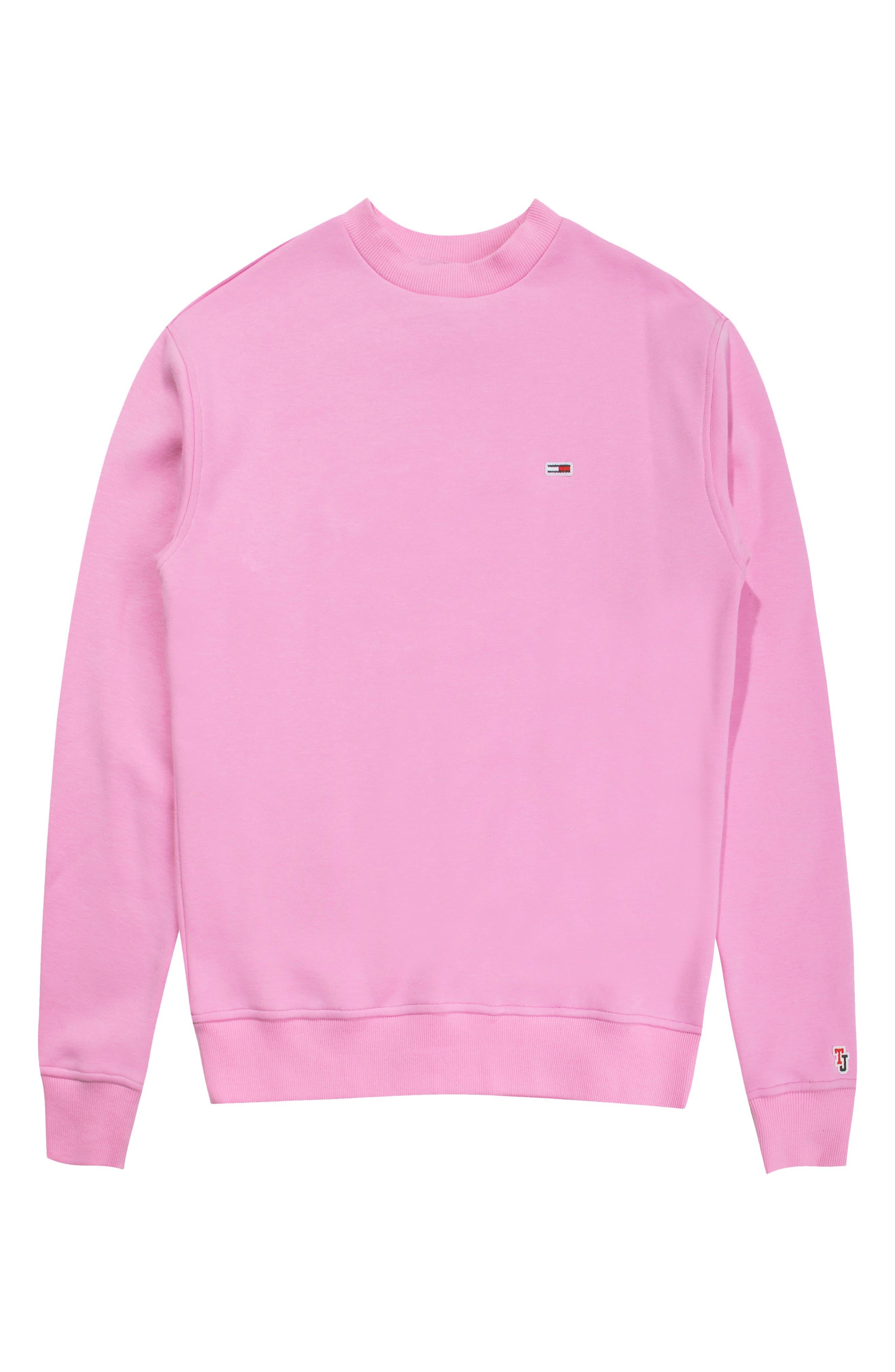 TOMMY JEANS,                             TJW Tommy Classics Sweatshirt,                             Alternate thumbnail 4, color,                             LILAC CHIFFON