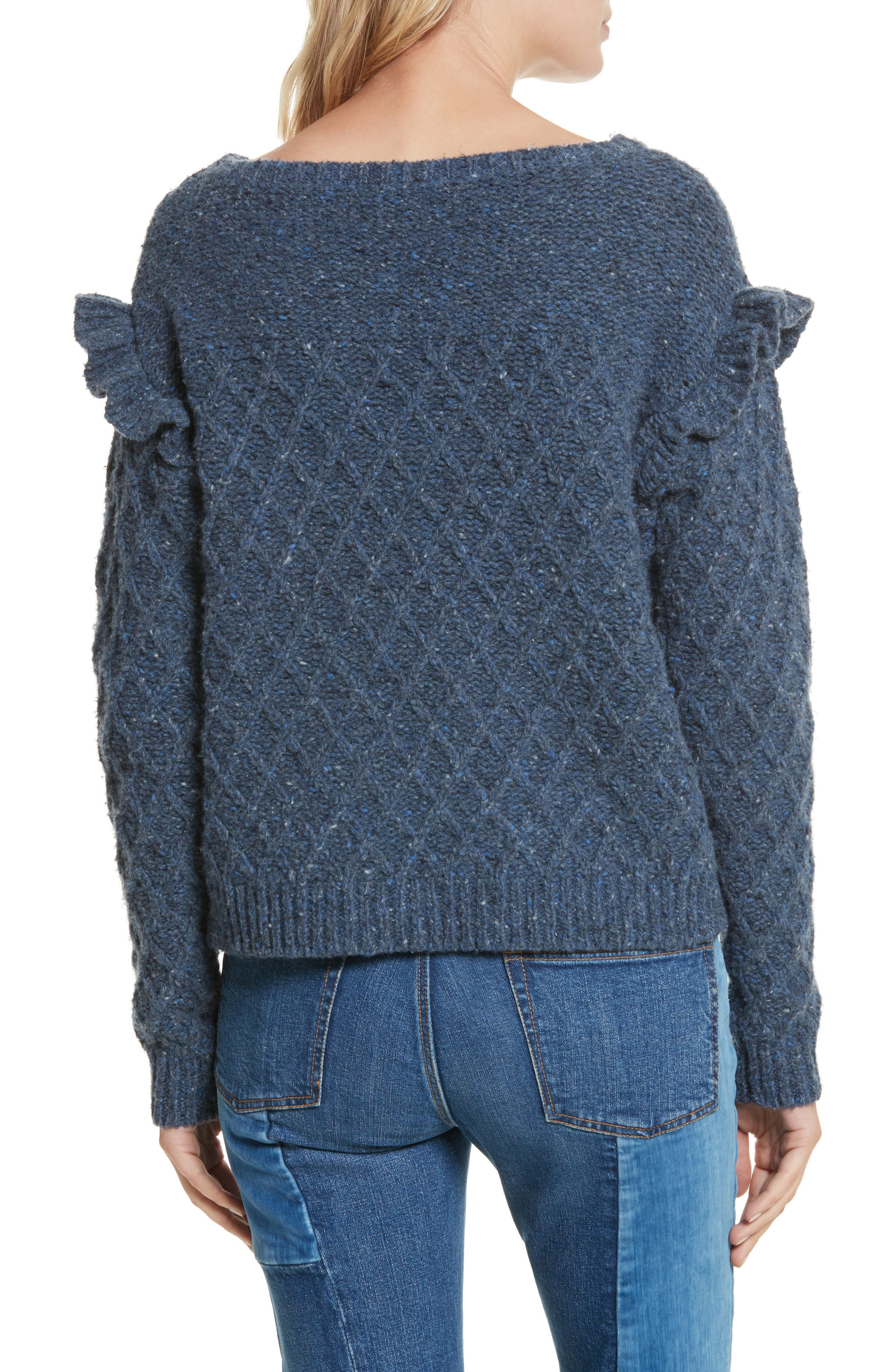 Lattice Stitch Pullover,                             Alternate thumbnail 2, color,                             454
