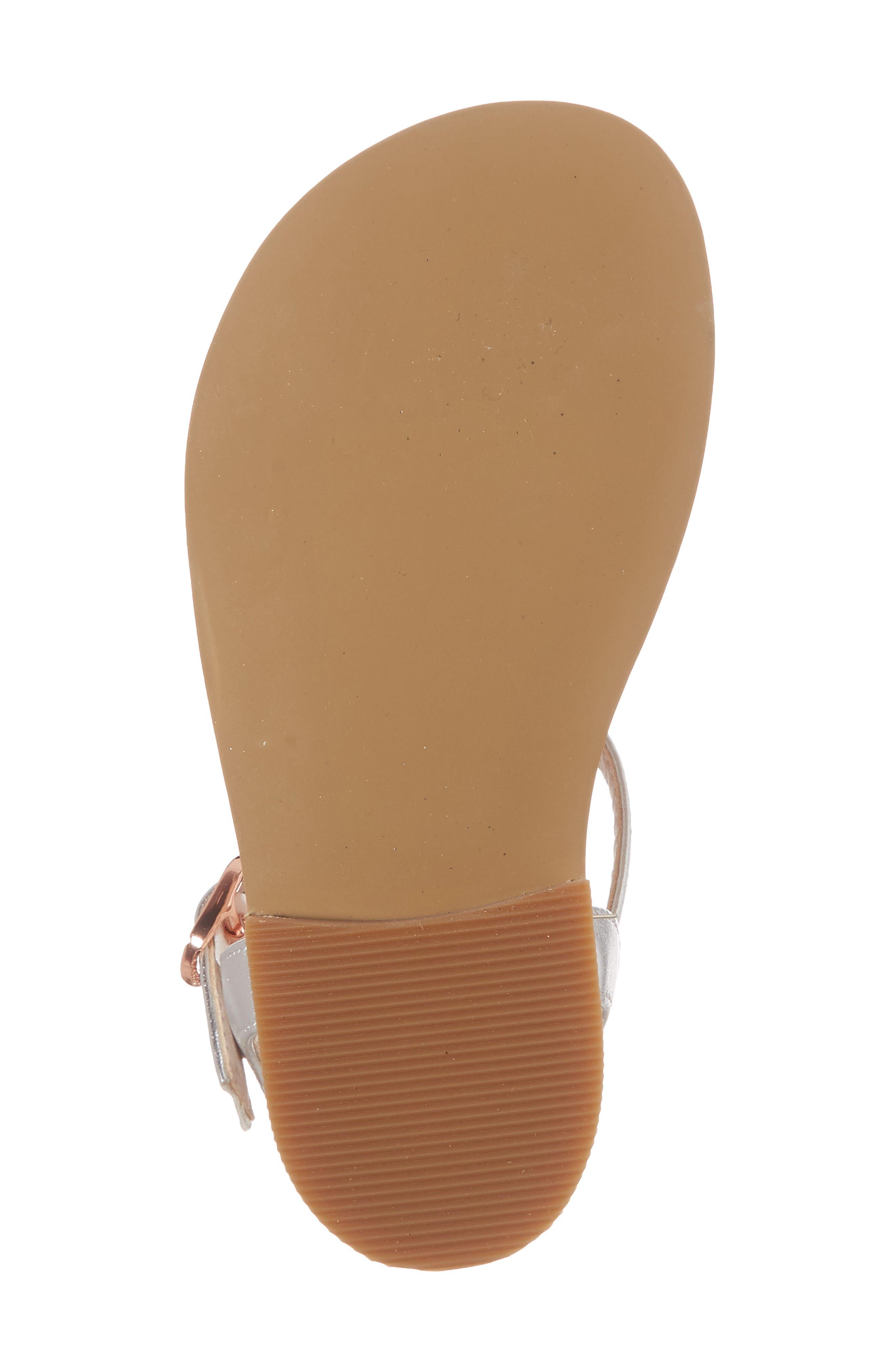 Tegan Glitter T-Strap Sandal,                             Alternate thumbnail 6, color,                             040