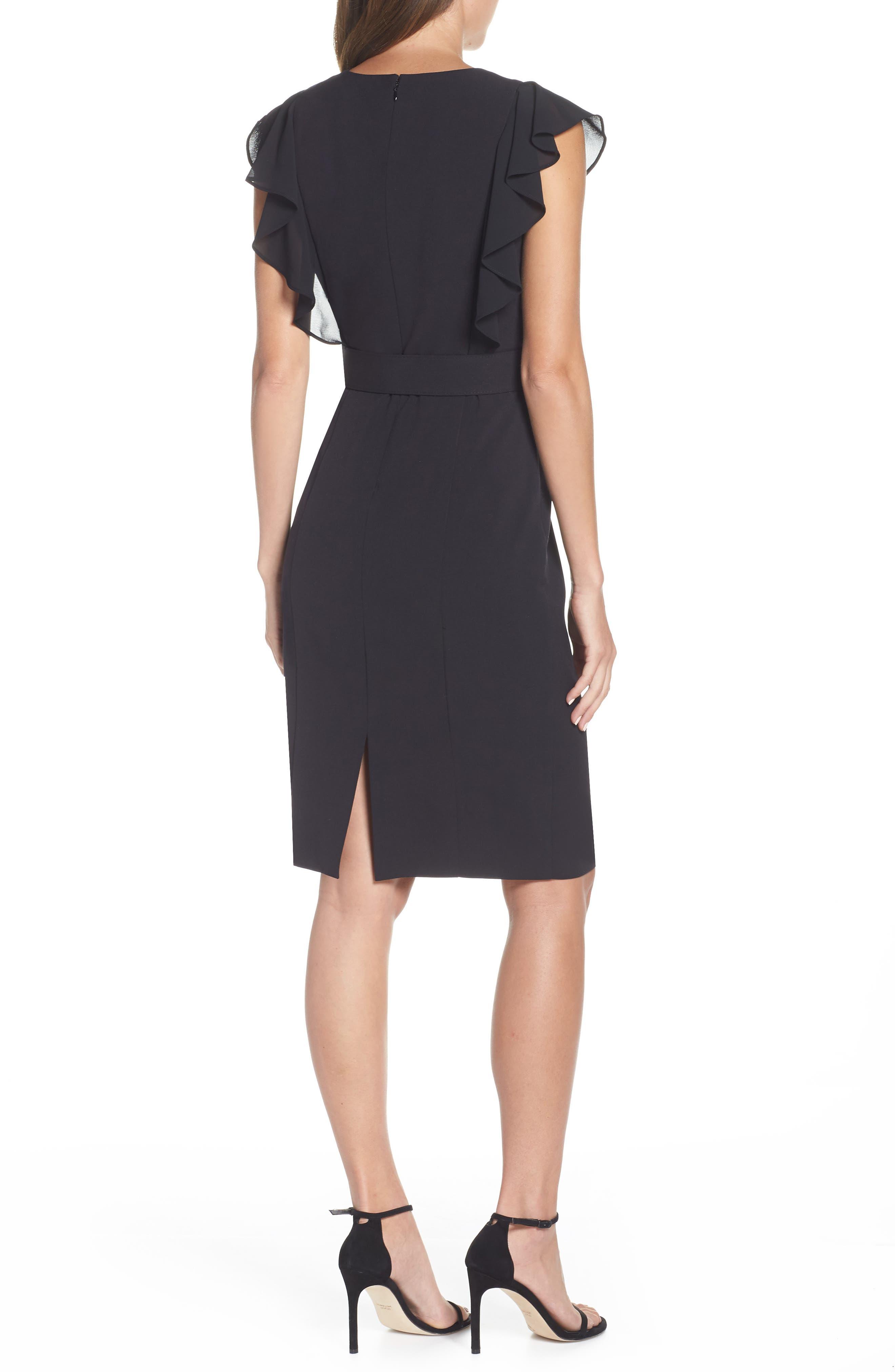HARPER ROSE,                             Belted Sheath Dress,                             Alternate thumbnail 2, color,                             BLACK
