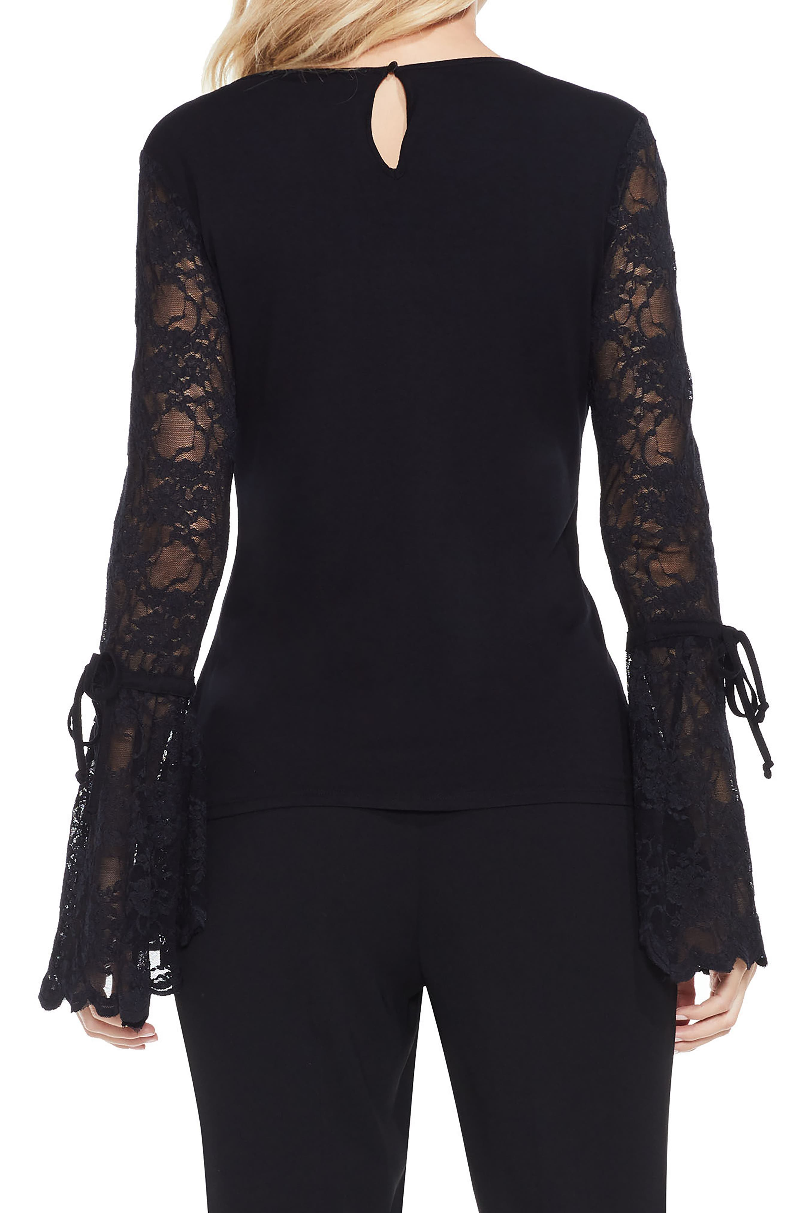Lace Bell Sleeve Top,                             Alternate thumbnail 2, color,                             006
