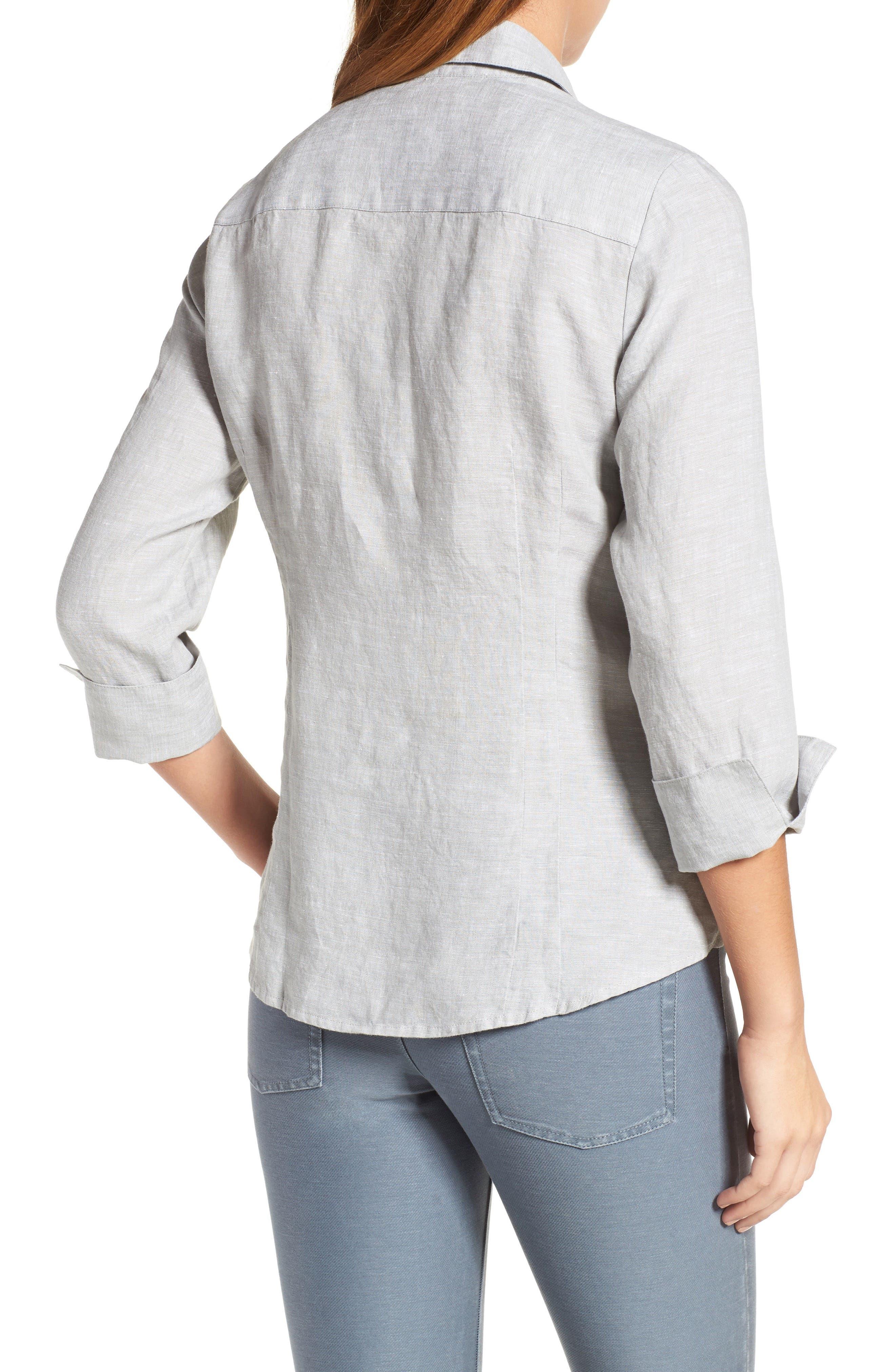 Linen Chambray Shirt,                             Alternate thumbnail 9, color,