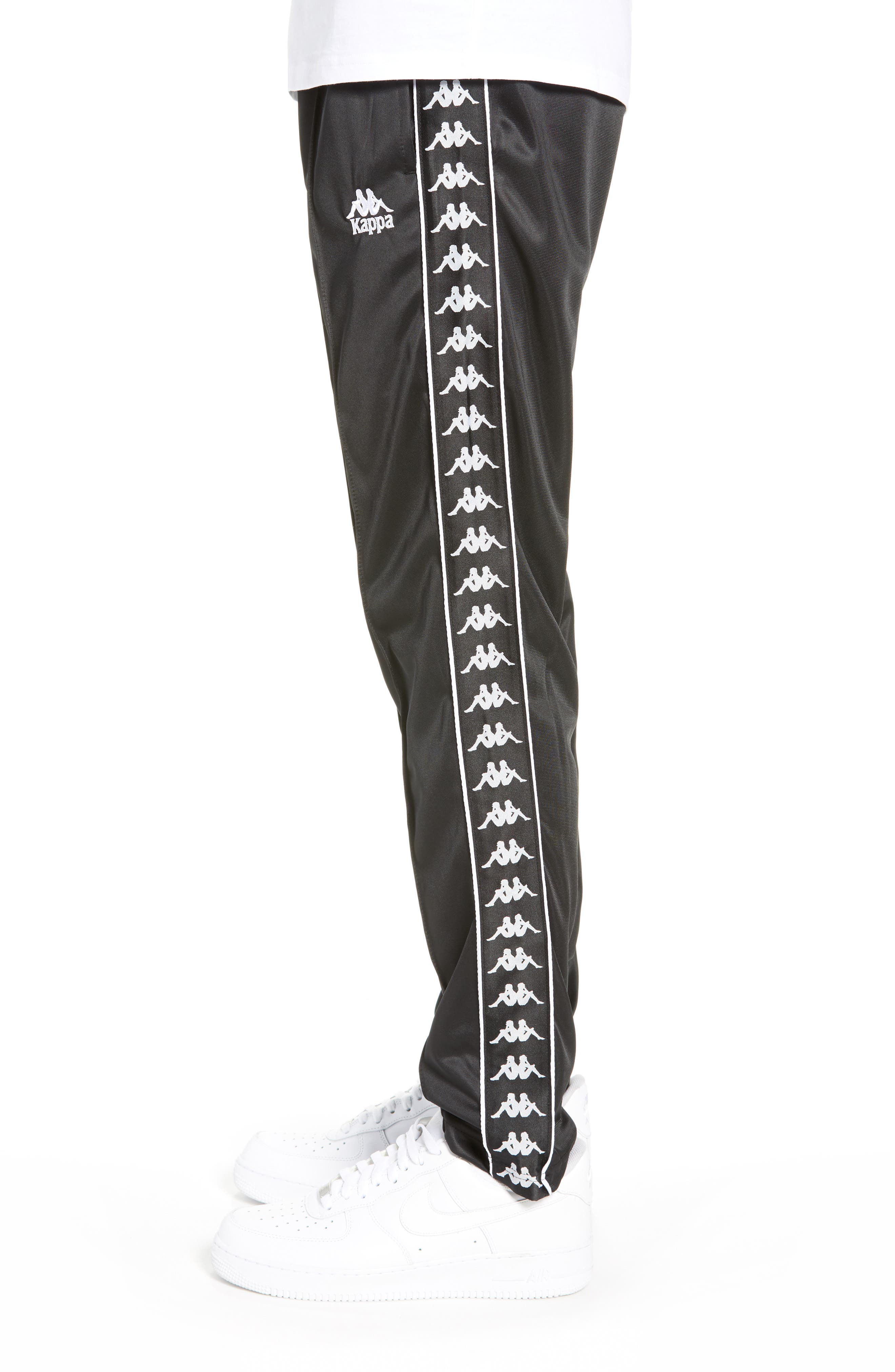 Authentic Fairfax Side Stripe Slim Track Pants,                             Alternate thumbnail 3, color,                             BLACK/ WHITE