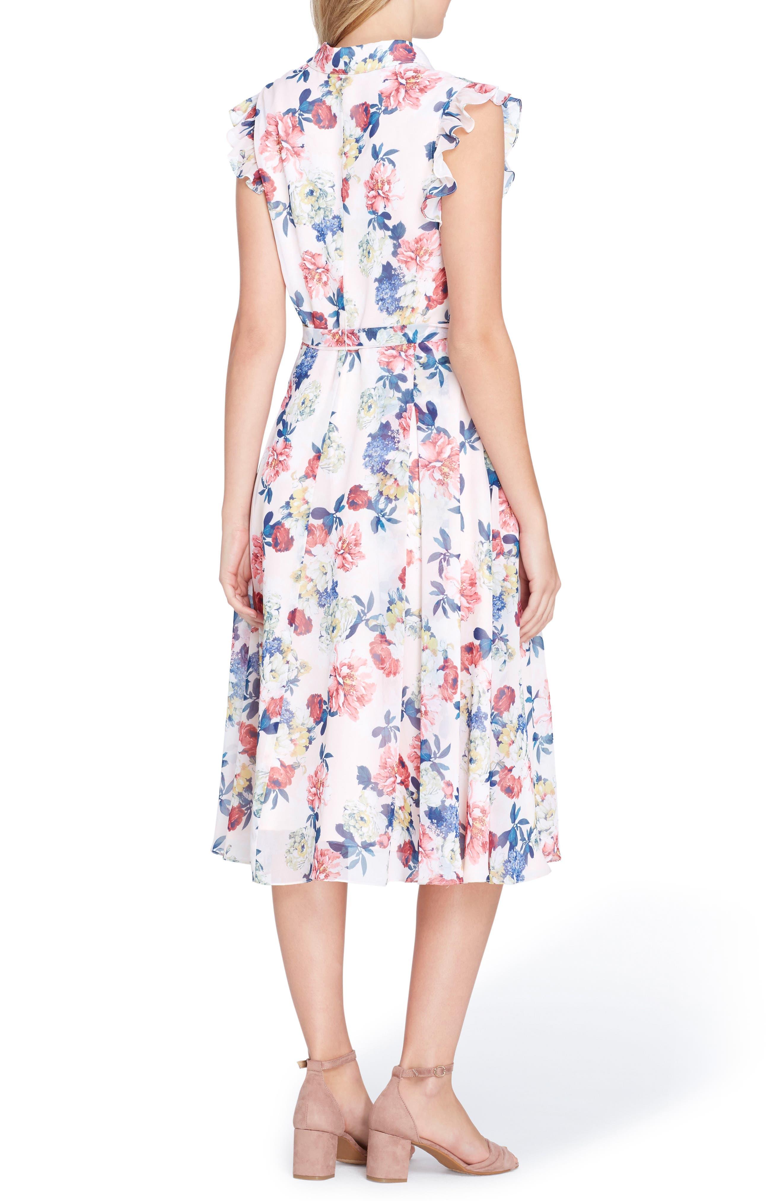 Floral Chiffon Shirtdress,                             Alternate thumbnail 2, color,                             687