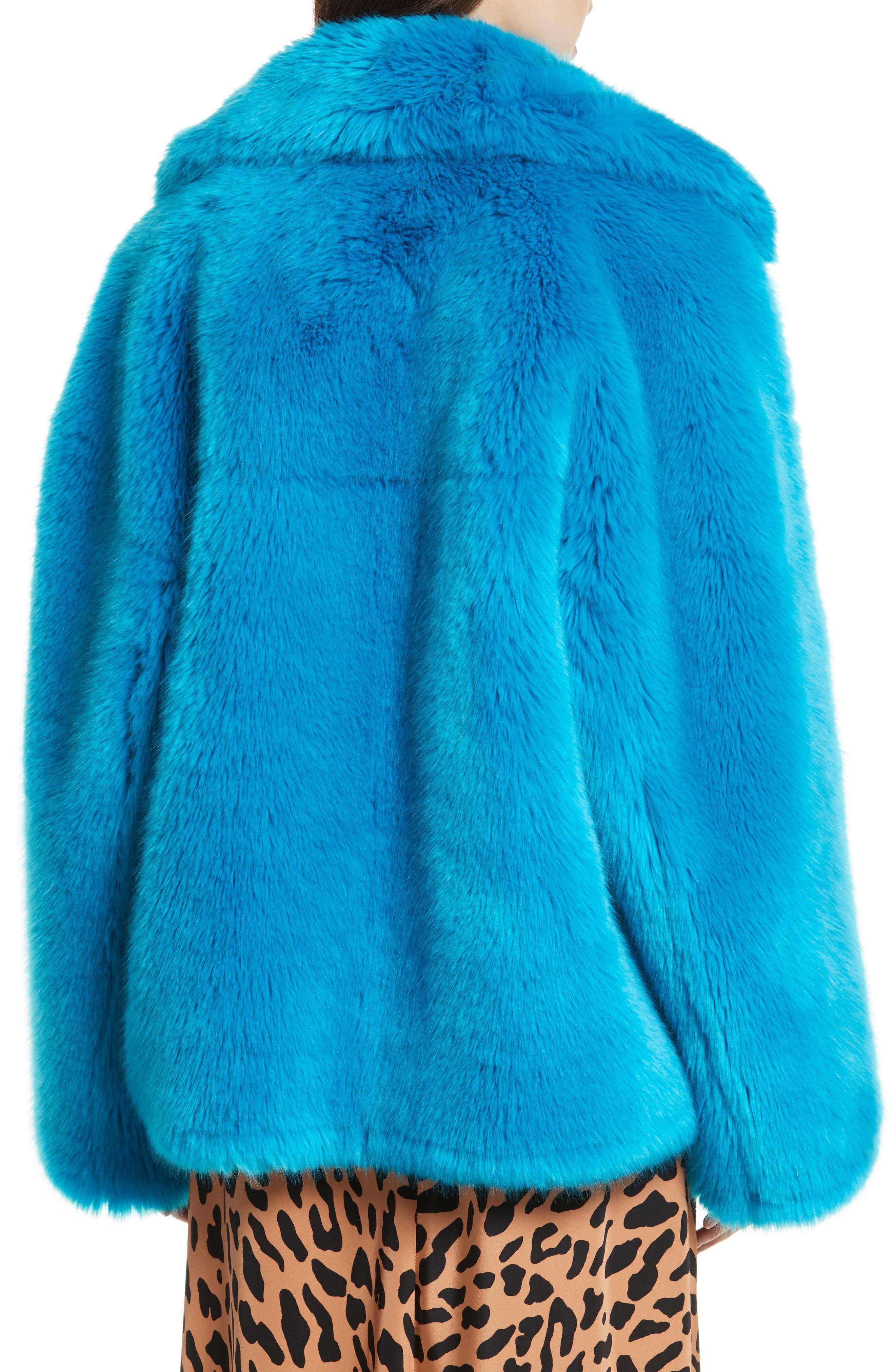 DIANE VON FURSTENBERG,                             Faux Fur Jacket,                             Alternate thumbnail 2, color,                             403