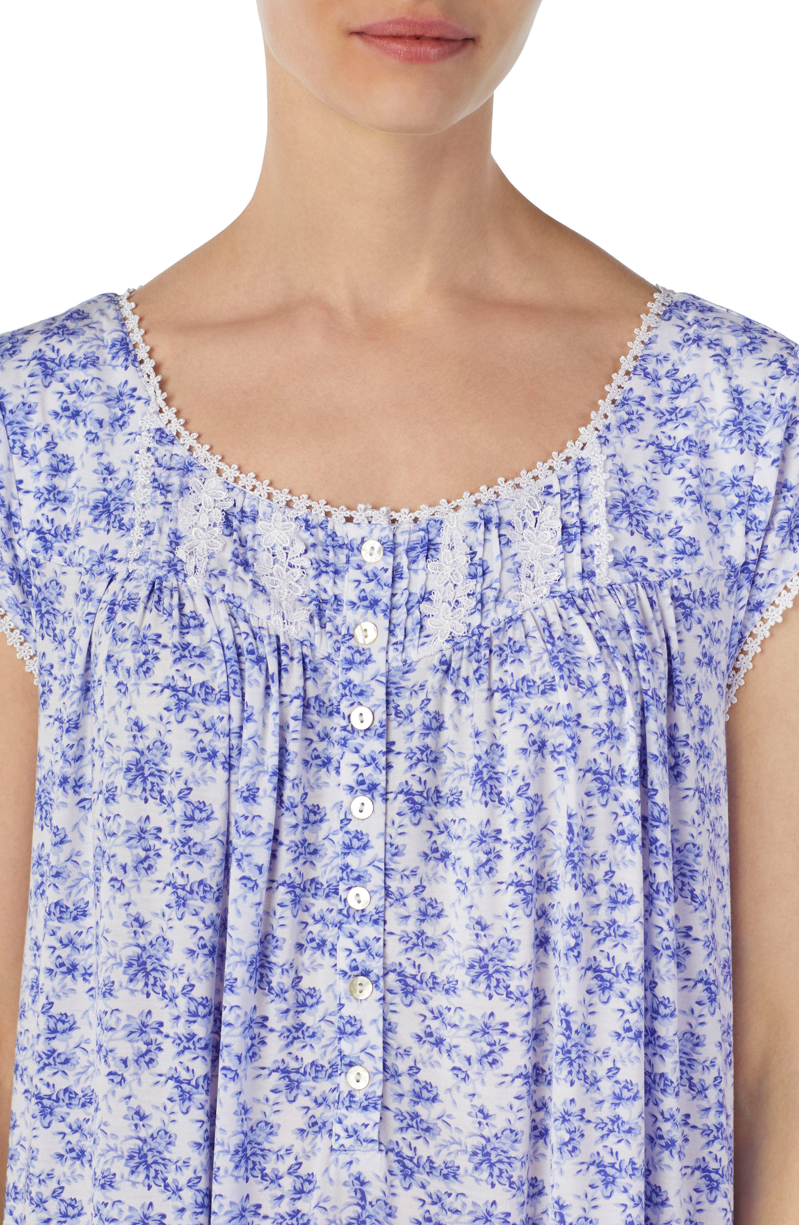 Floral Print Nightgown,                             Alternate thumbnail 3, color,                             570
