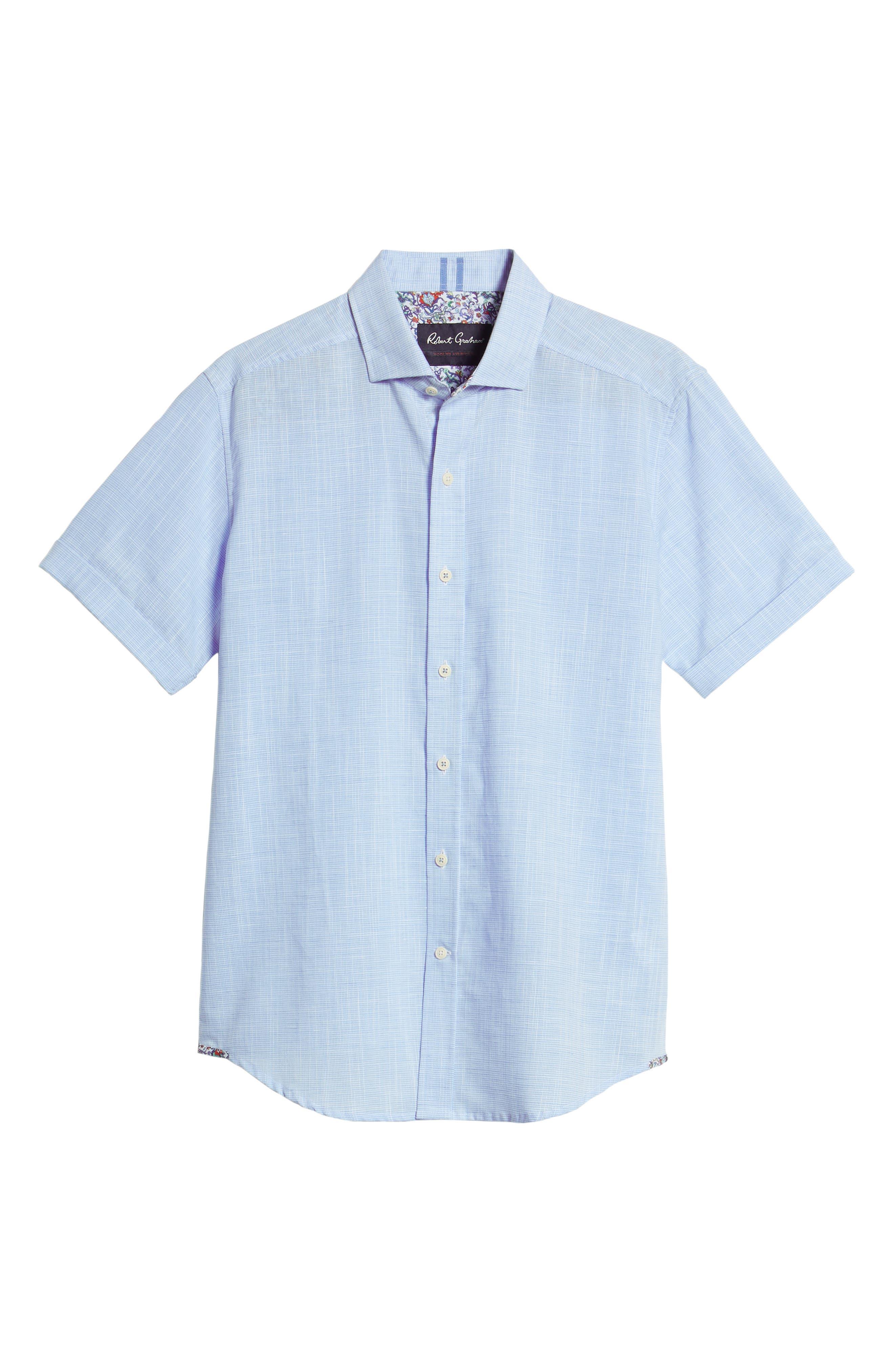 ROBERT GRAHAM,                             Isia Tailored Fit Sport Shirt,                             Alternate thumbnail 6, color,                             400
