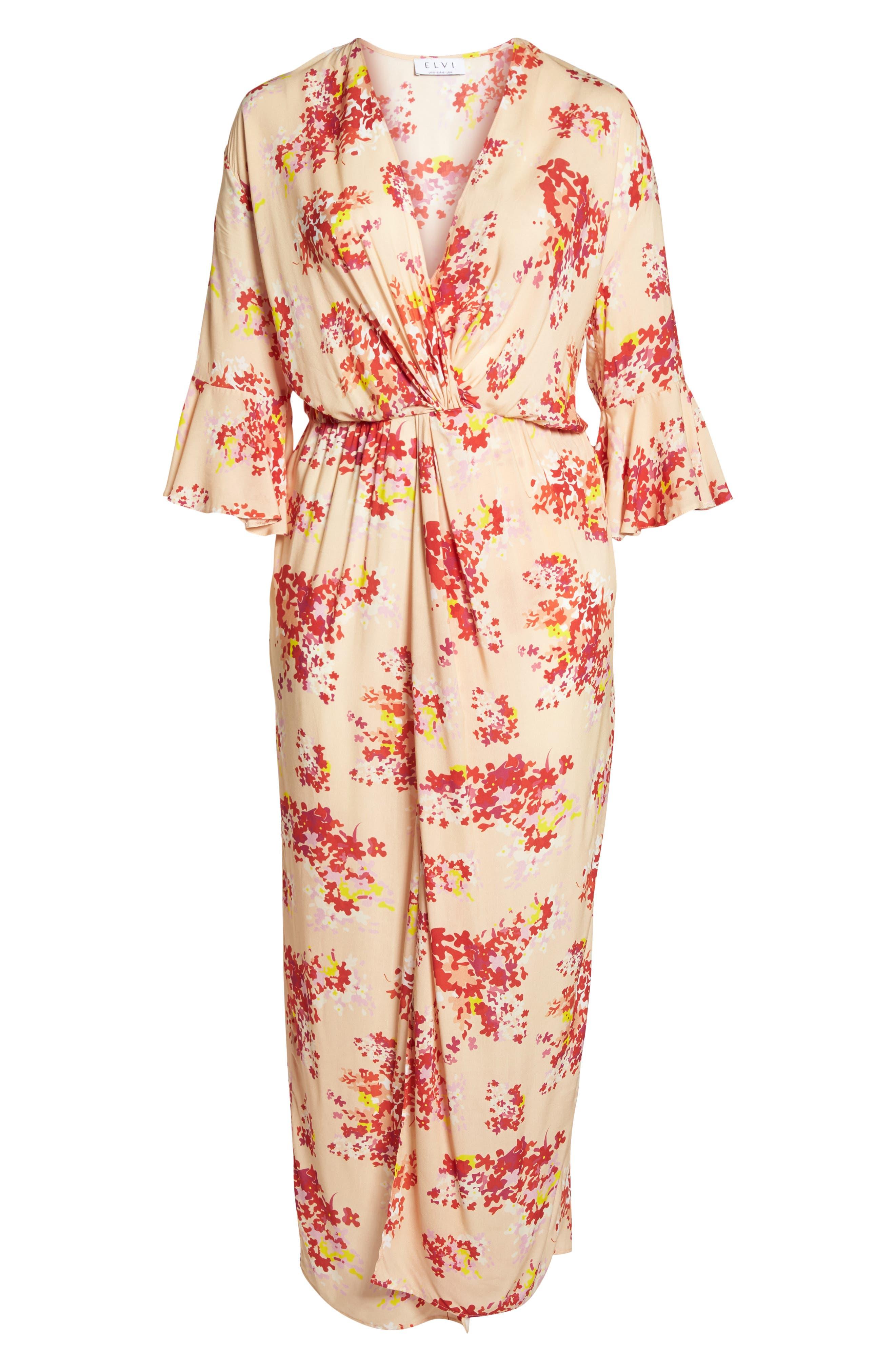 The Stasis Wrap Maxi Dress,                             Alternate thumbnail 6, color,                             650