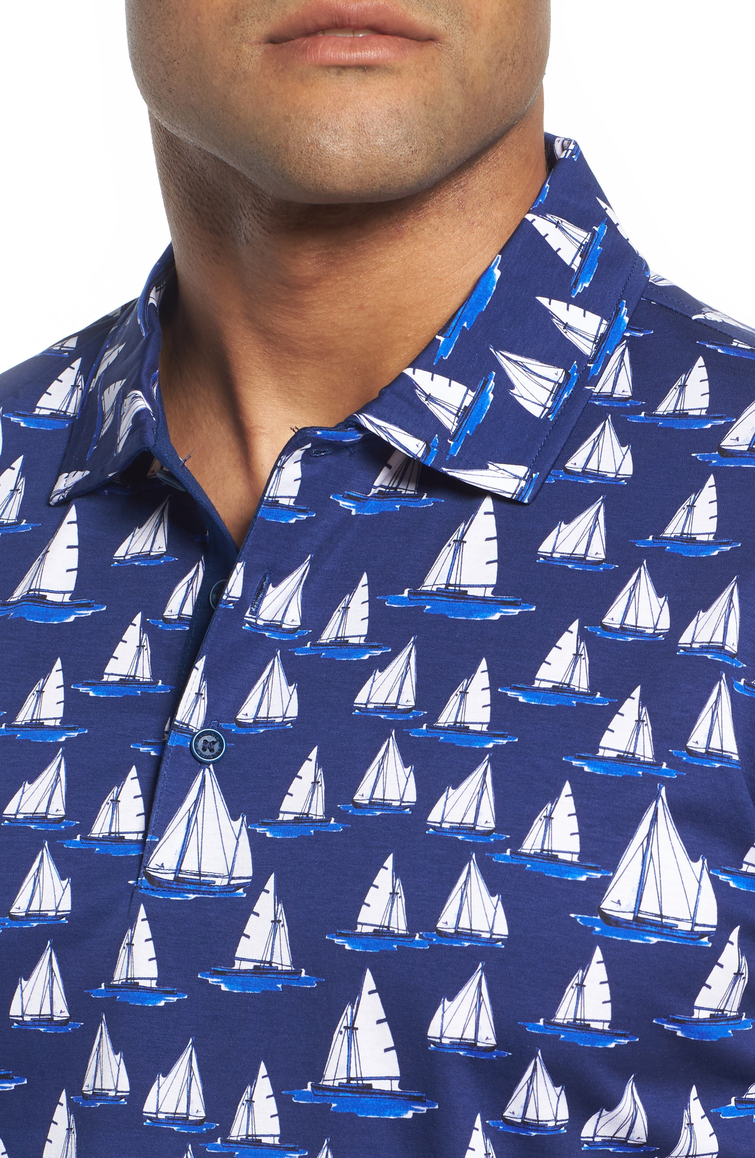 Sailboat Knit Polo,                             Alternate thumbnail 4, color,                             411