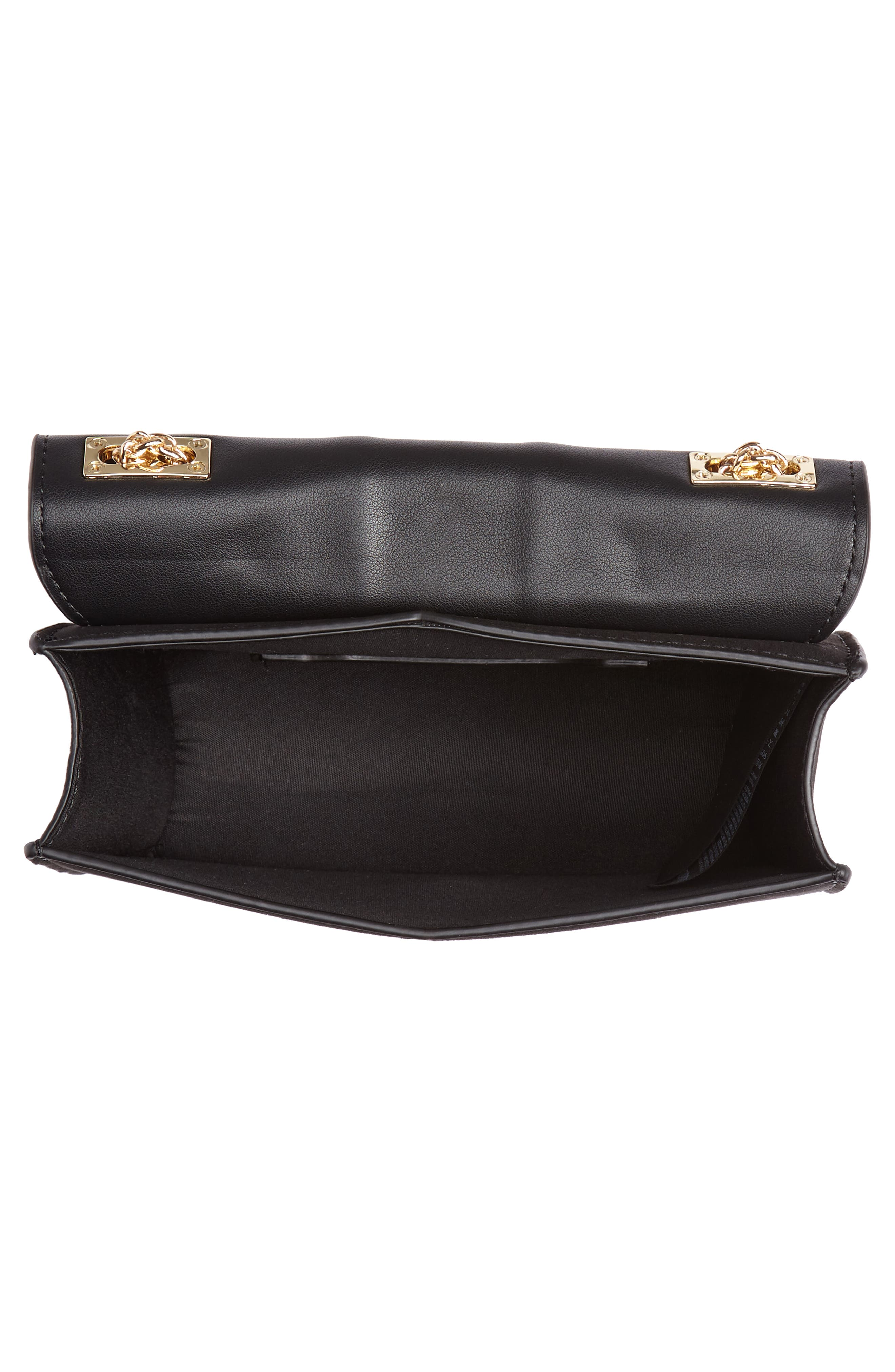 Panther Crossbody Bag,                             Alternate thumbnail 4, color,                             BLACK