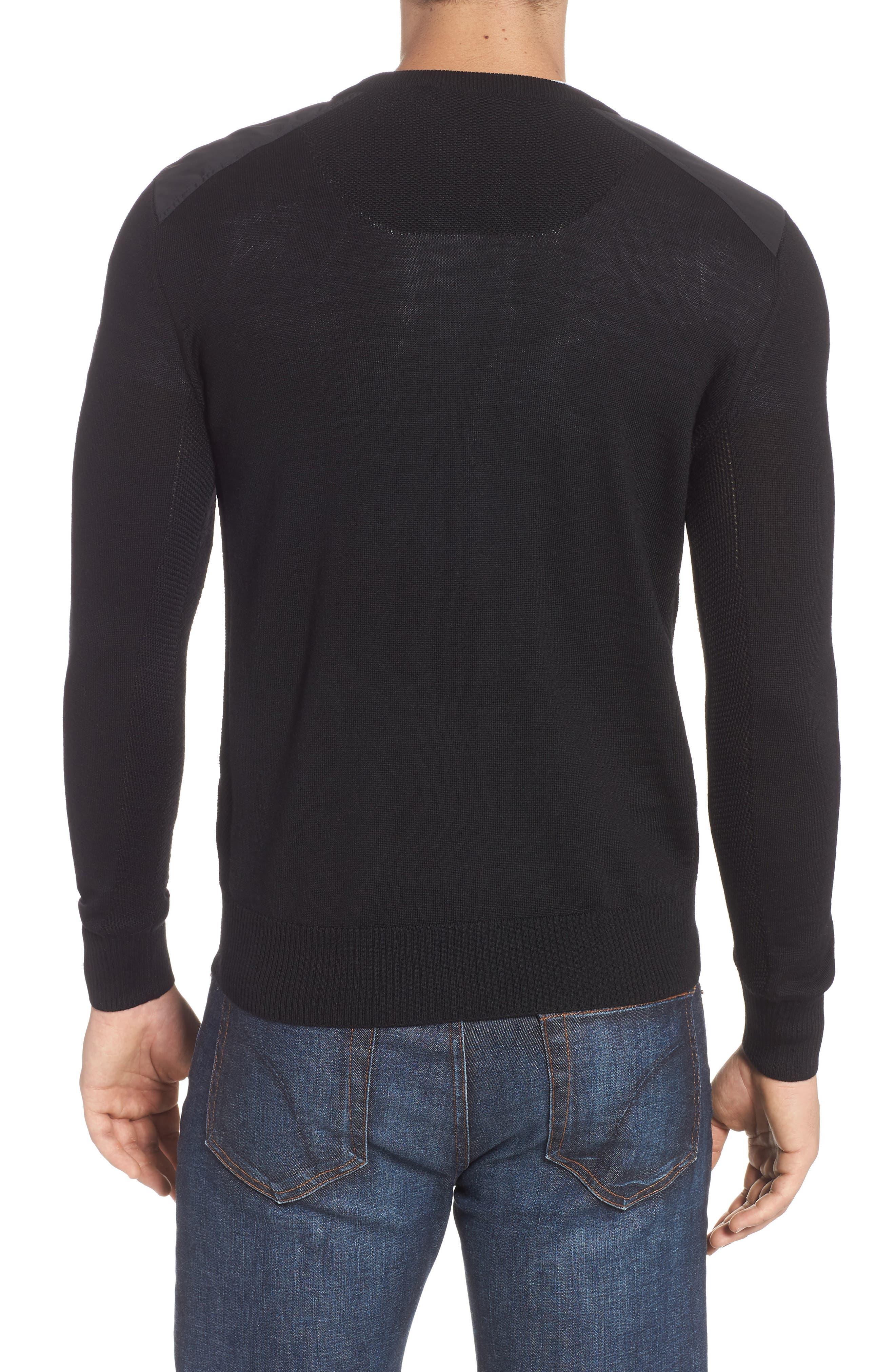 McLeod V-Neck Regular Fit Merino Wool Sweater,                             Alternate thumbnail 2, color,                             BLACK