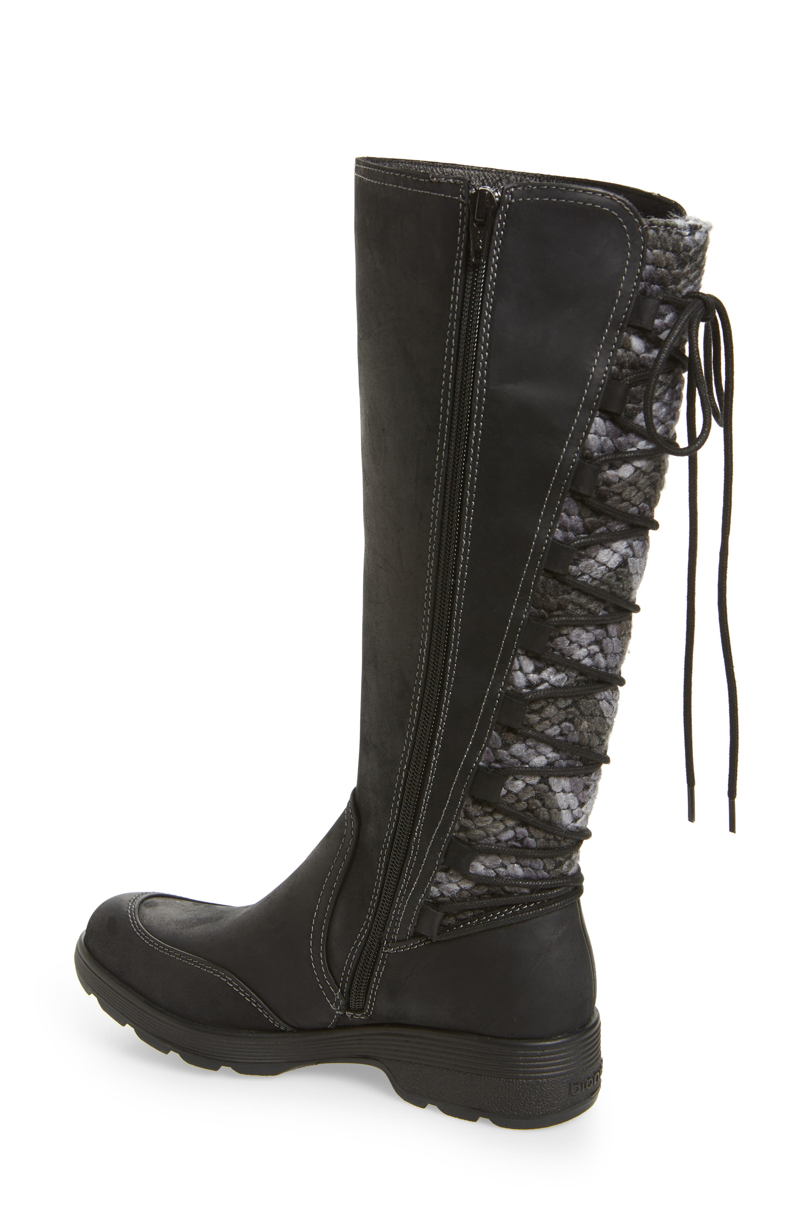 Epping Waterproof Knee High Boot,                             Alternate thumbnail 2, color,                             BLACK LEATHER