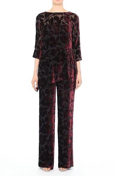 Velvet Floral Burnout Pants, video thumbnail