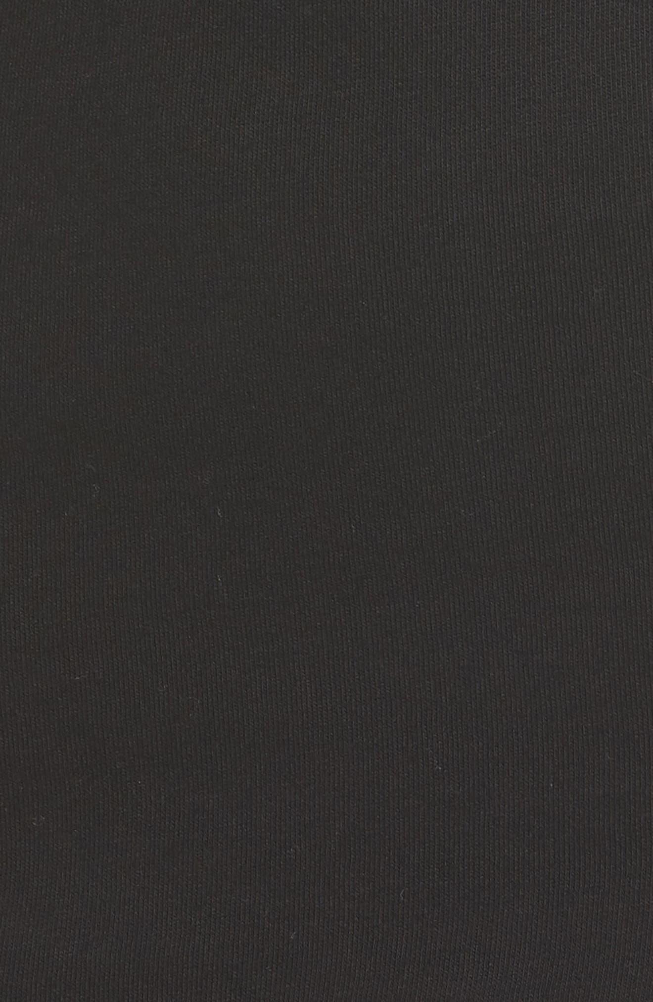 Cold Shoulder Dress,                             Alternate thumbnail 5, color,                             BLACK