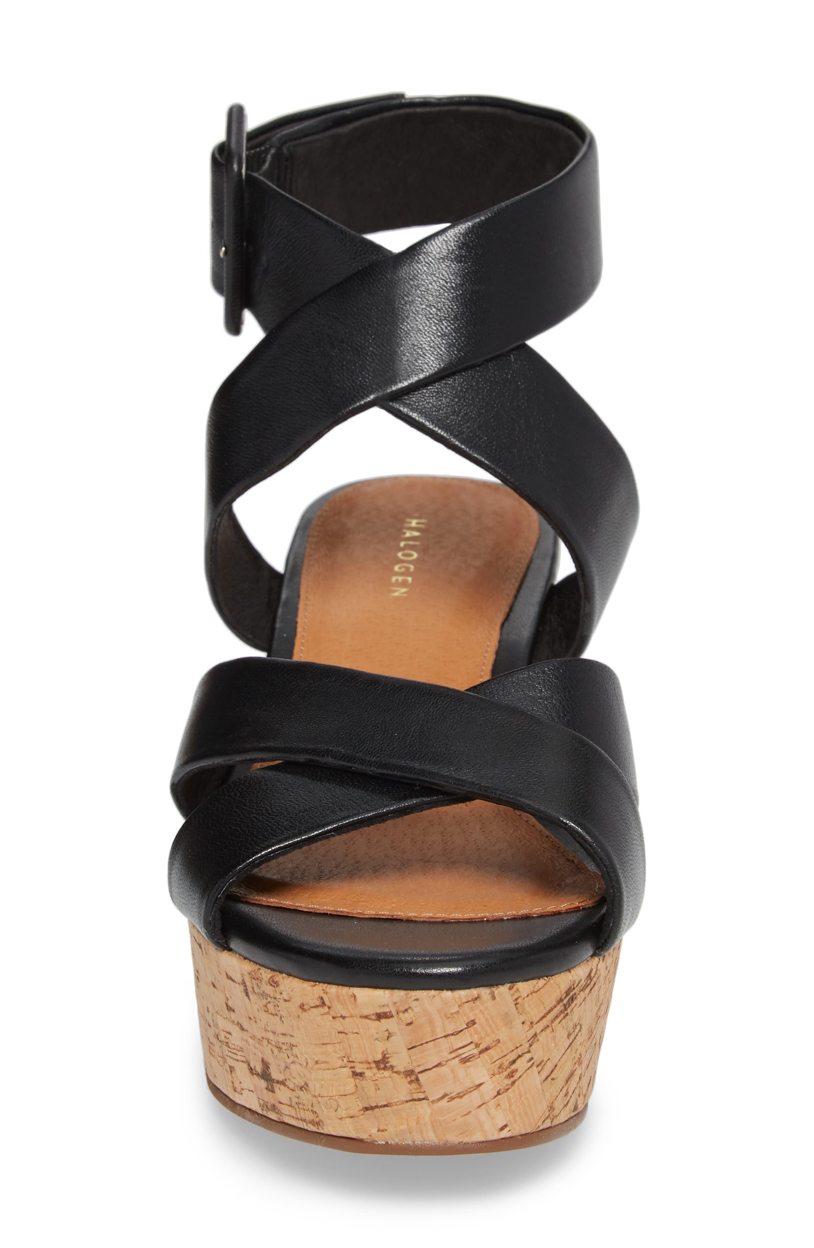 Evie Platform Wedge Sandal,                             Alternate thumbnail 7, color,