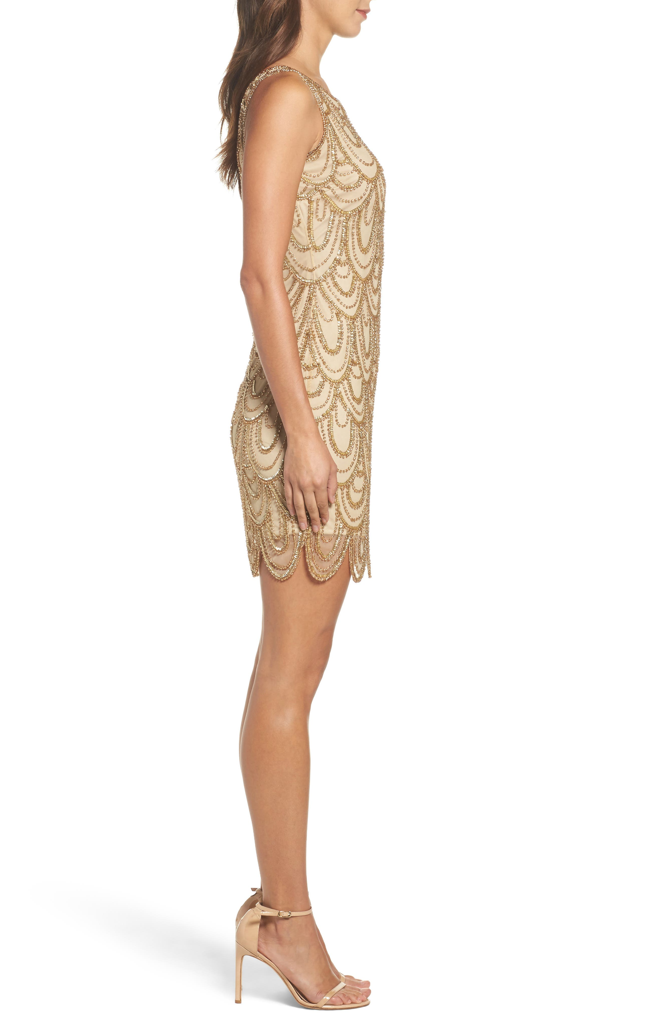 Embellished Mesh Sheath Dress,                             Alternate thumbnail 65, color,