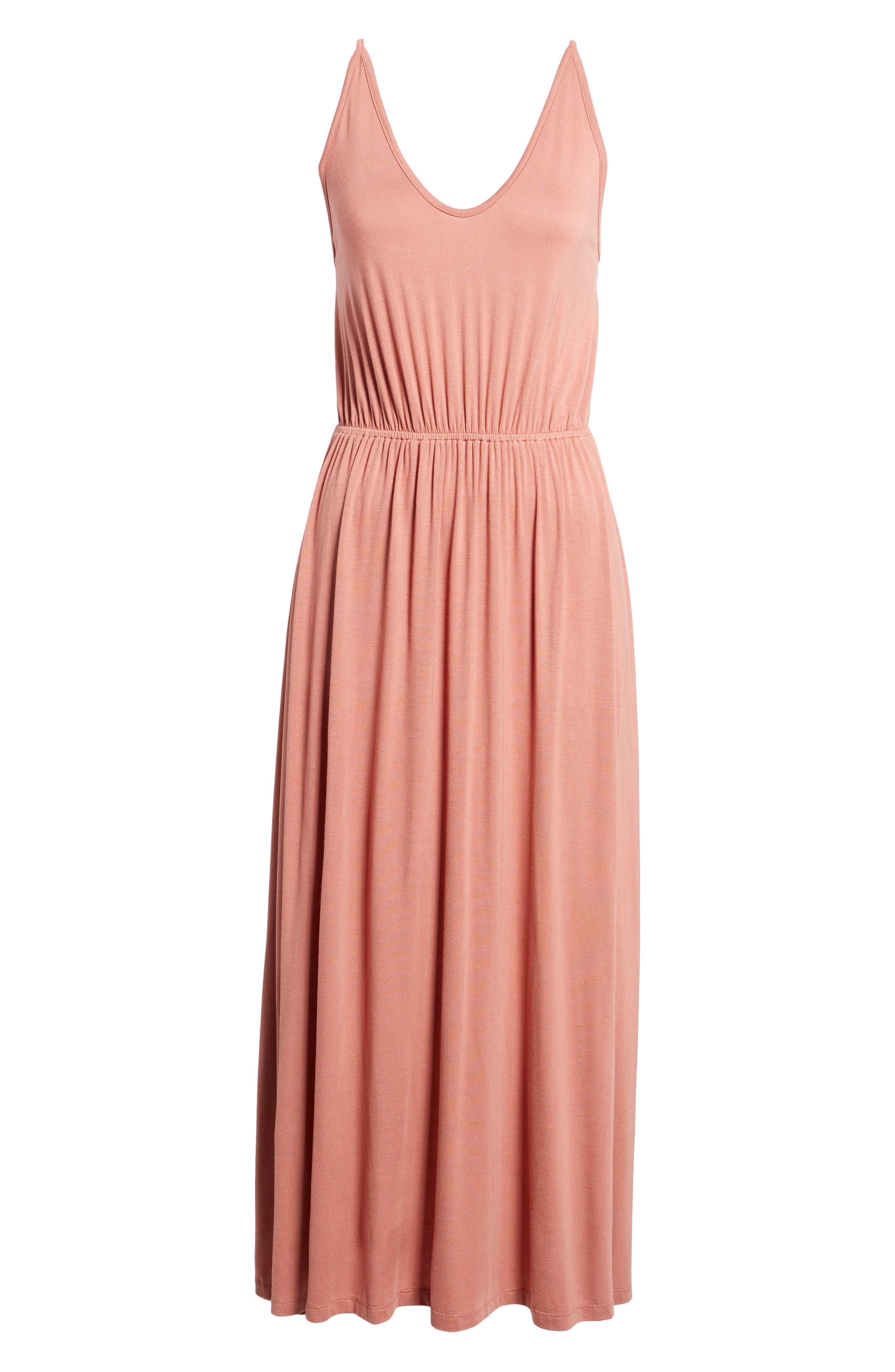 V-Neck Maxi Dress,                             Alternate thumbnail 17, color,