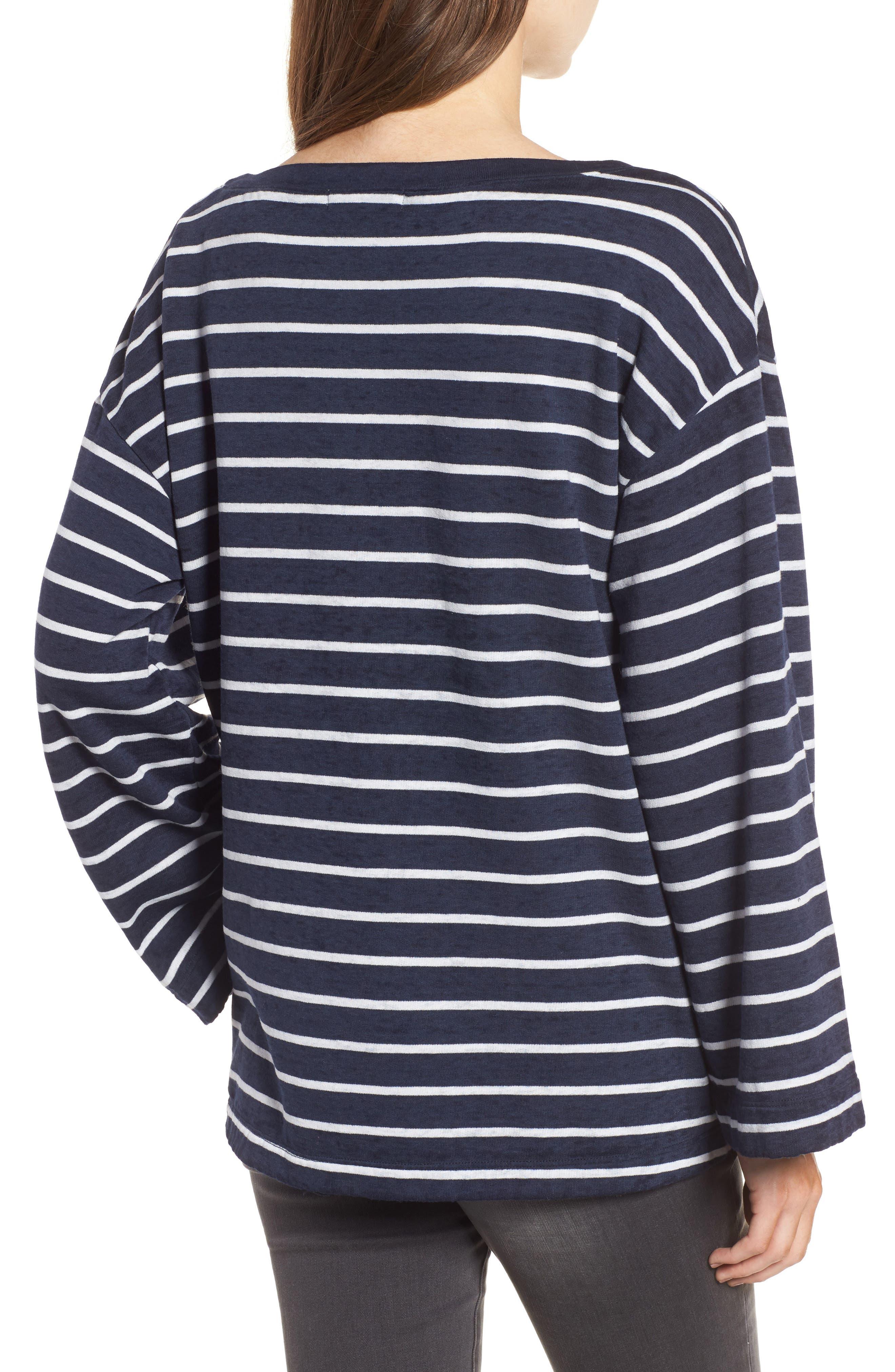 Bell Sleeve Sweatshirt,                             Alternate thumbnail 8, color,