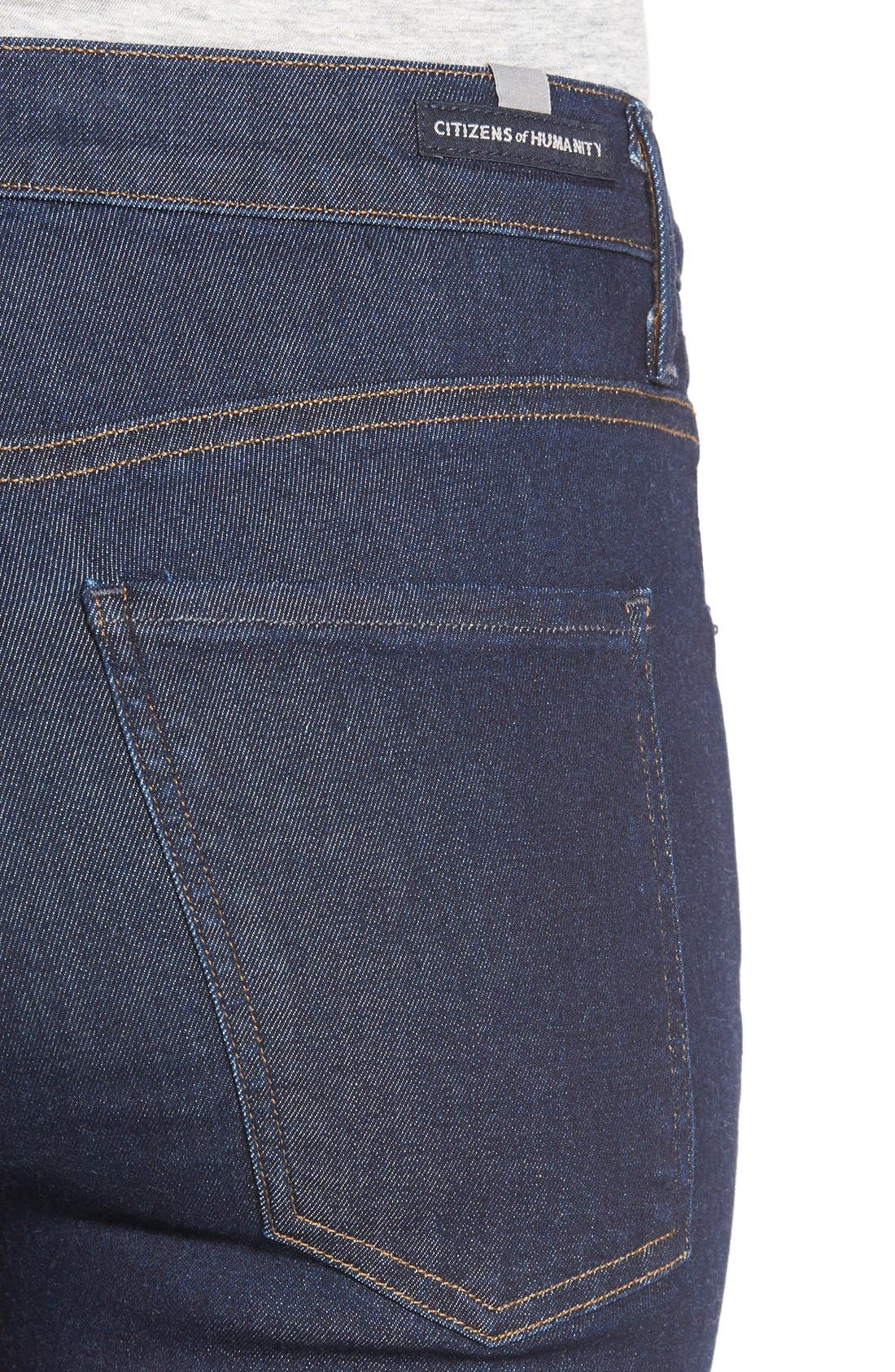 'Fleetwood' High Rise Flare Jeans,                             Alternate thumbnail 3, color,                             OZONE RINSE