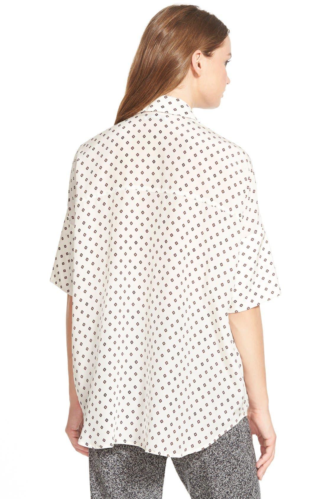 MADEWELL,                             'Foulard Dot' Silk Courier Shirt,                             Alternate thumbnail 5, color,                             900